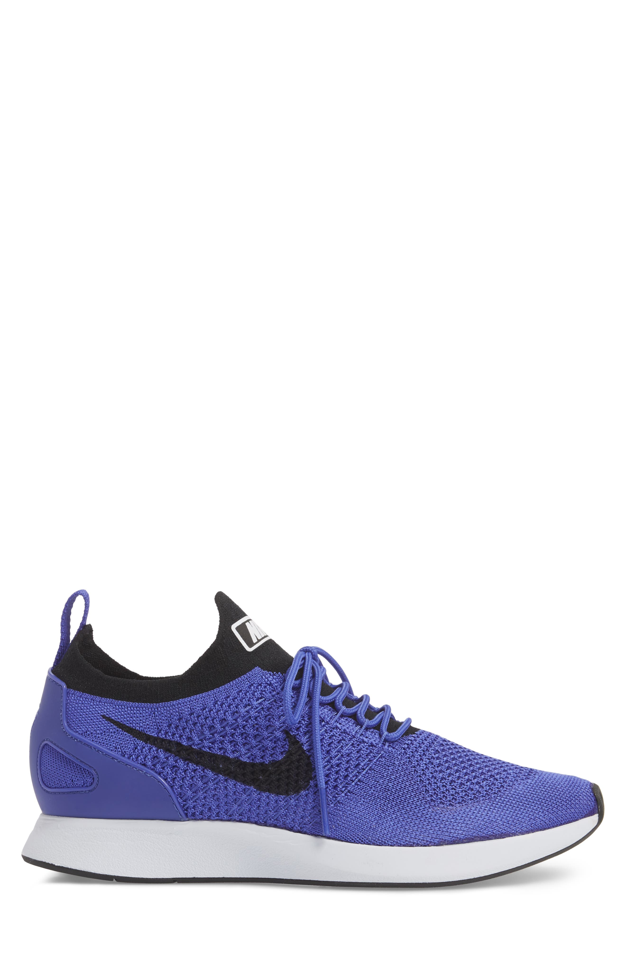 Air Zoom Mariah Flyknit Racer Sneaker,                             Alternate thumbnail 3, color,                             VIOLET/ BLACK/ WHITE