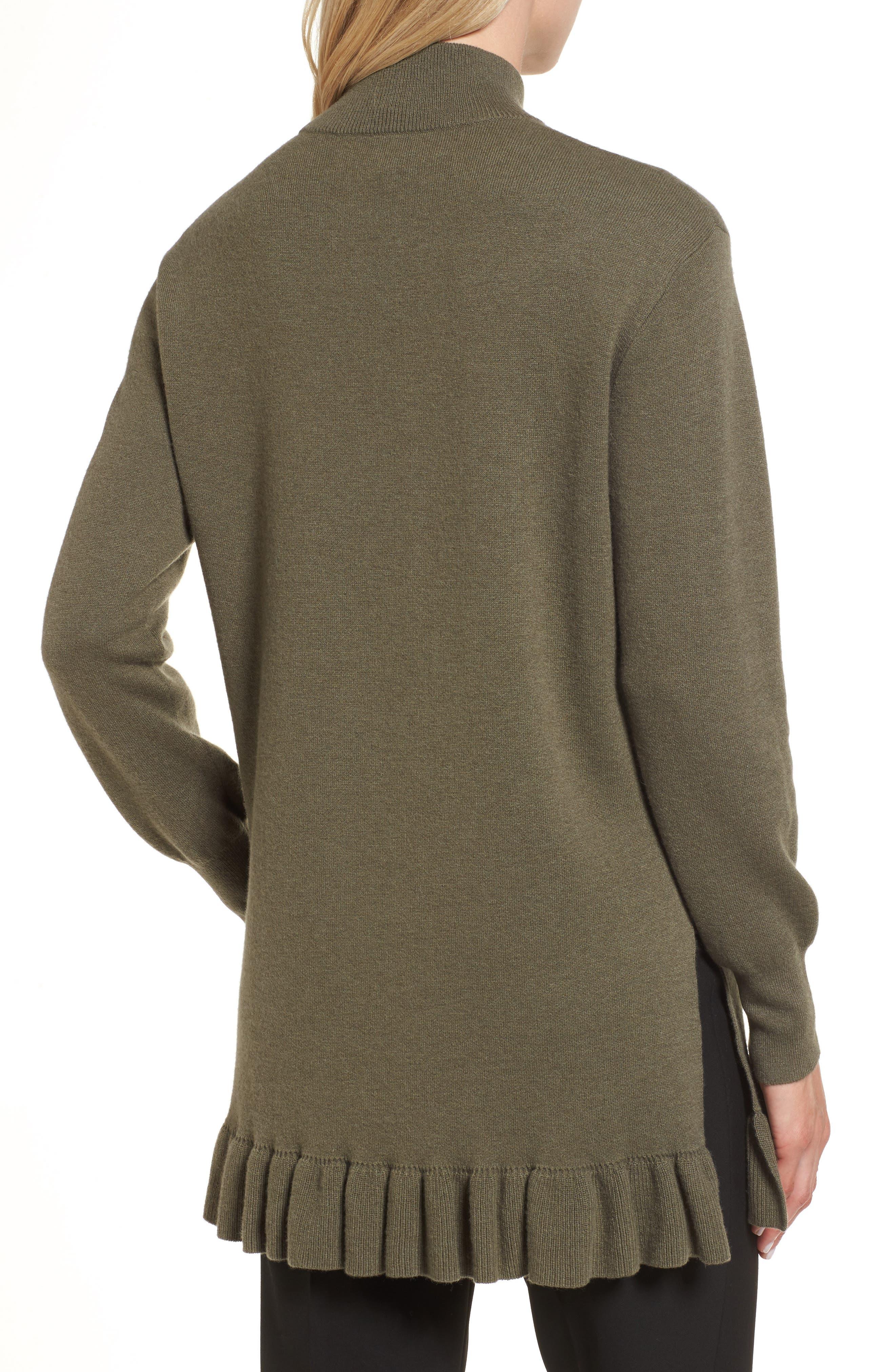 Ruffle Hem Cashmere Blend Tunic,                             Alternate thumbnail 2, color,                             315
