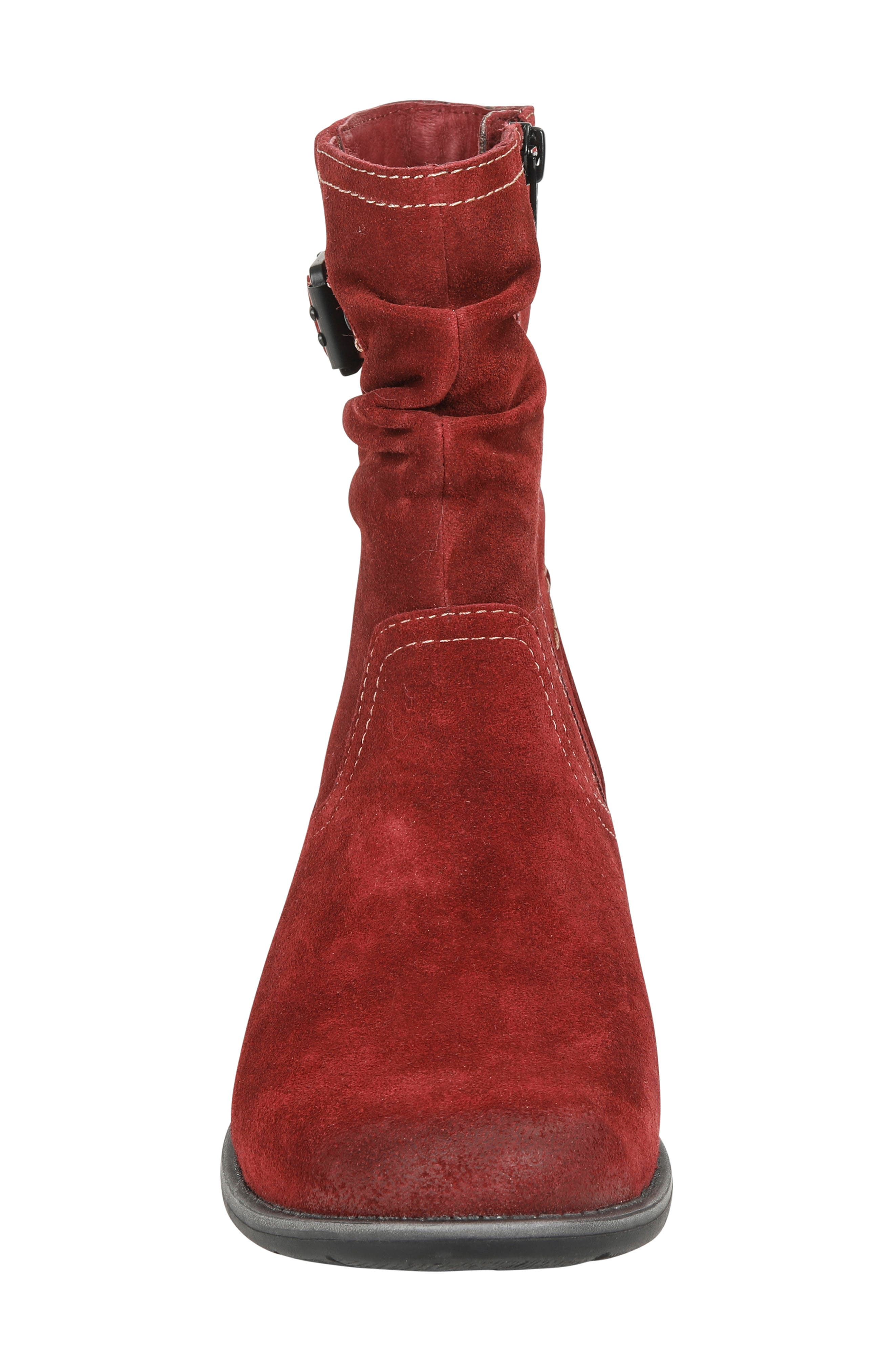 Beaufort Boot,                             Alternate thumbnail 4, color,                             GARNET SUEDE