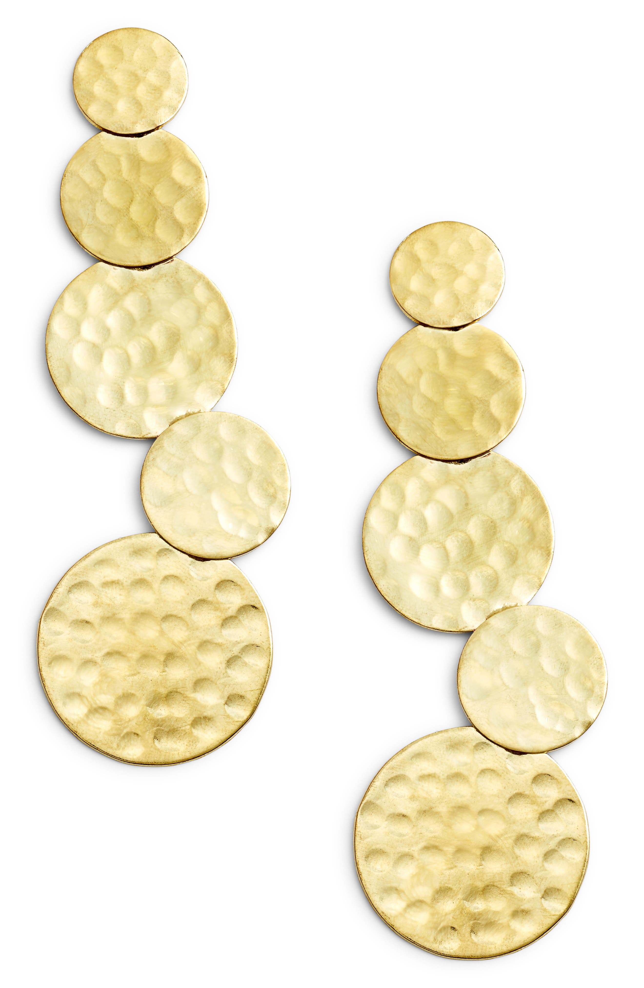 Taylor Hammered Statement Earrings,                             Main thumbnail 1, color,