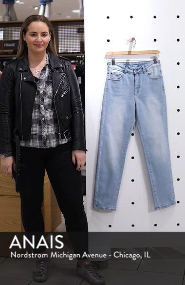 Edie High Waist Crop Straight Leg Jeans, sales video thumbnail