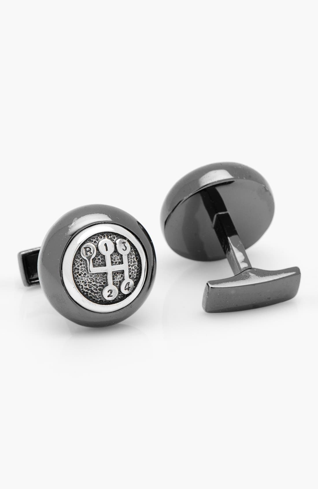 Gear Shifter Cuff Links,                             Alternate thumbnail 2, color,                             001