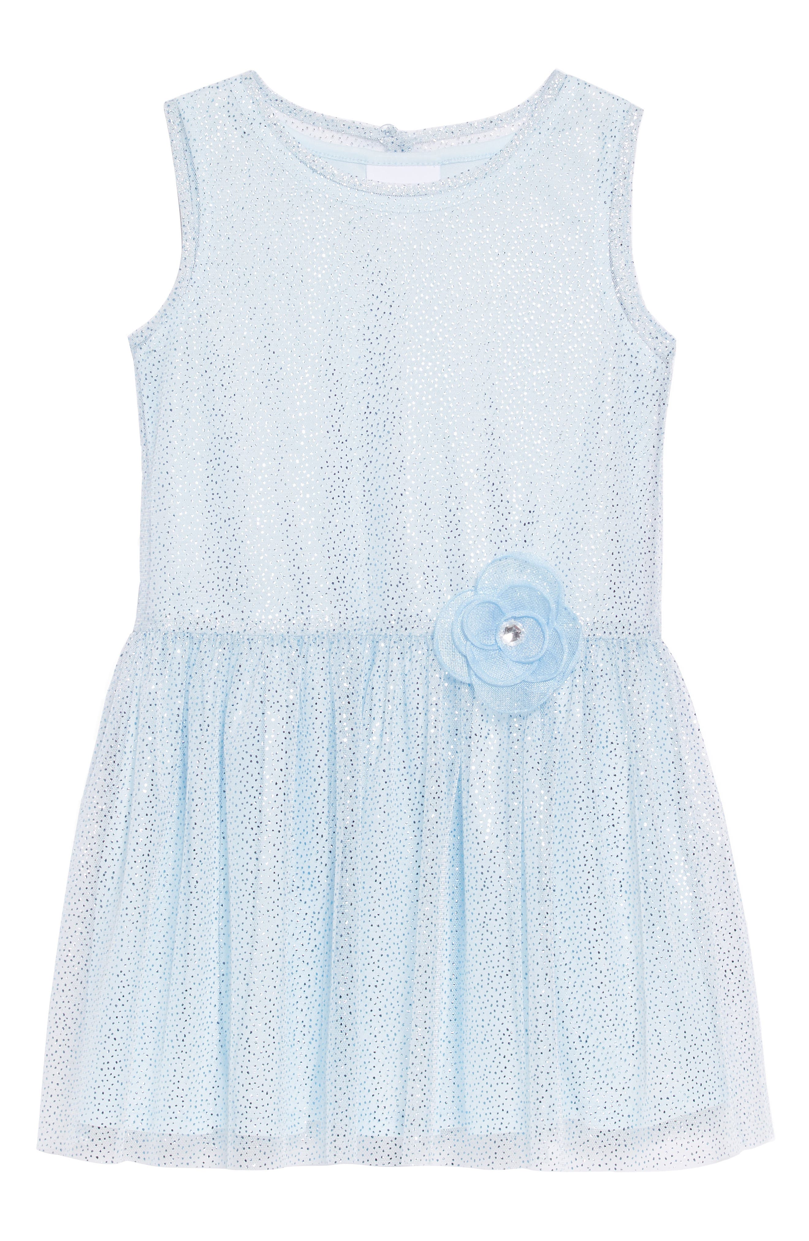 Sparkle Mesh Overlay Dress,                         Main,                         color, 450