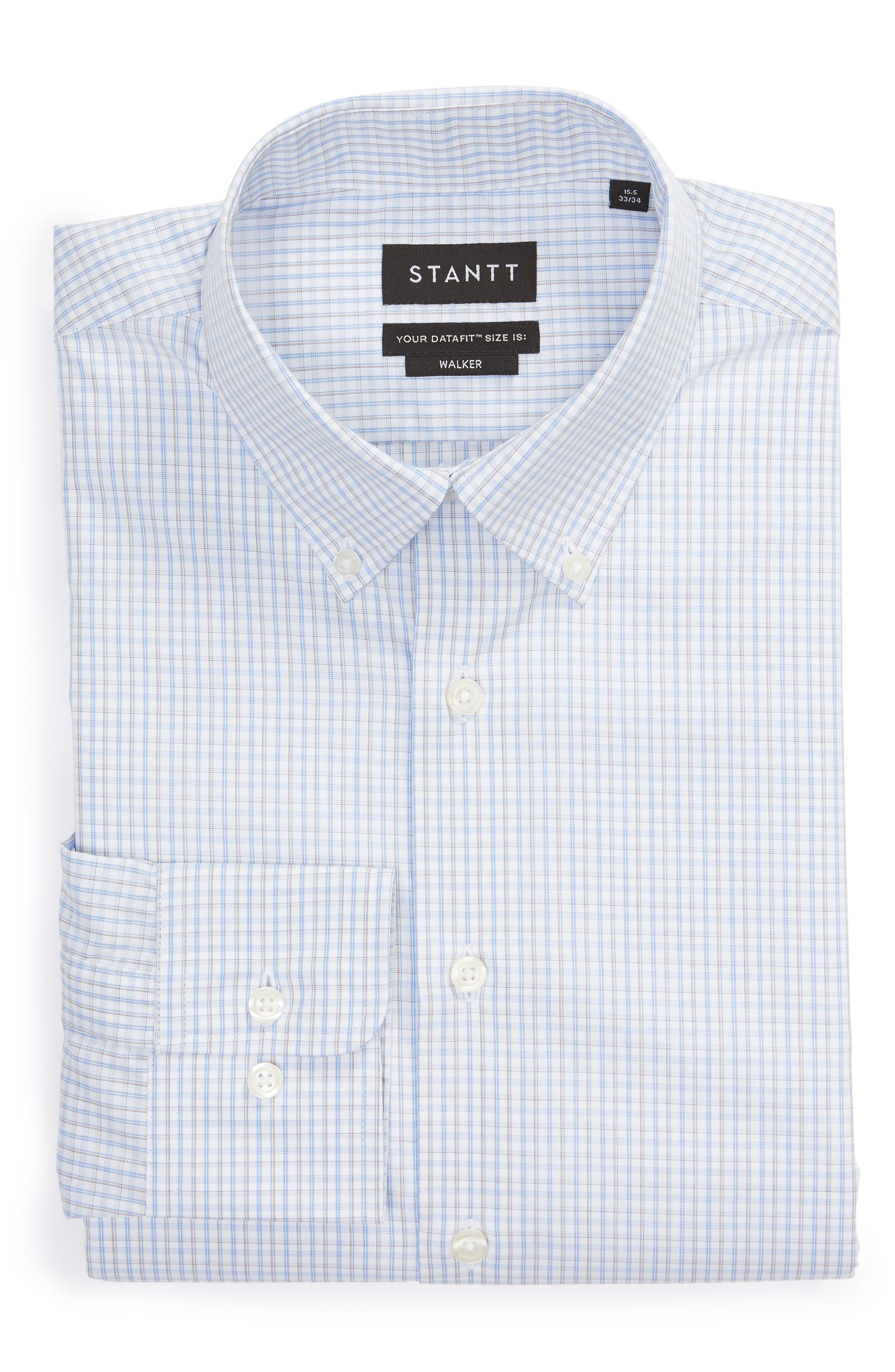 Classic Fit Check Dress Shirt,                             Alternate thumbnail 5, color,                             BROWN