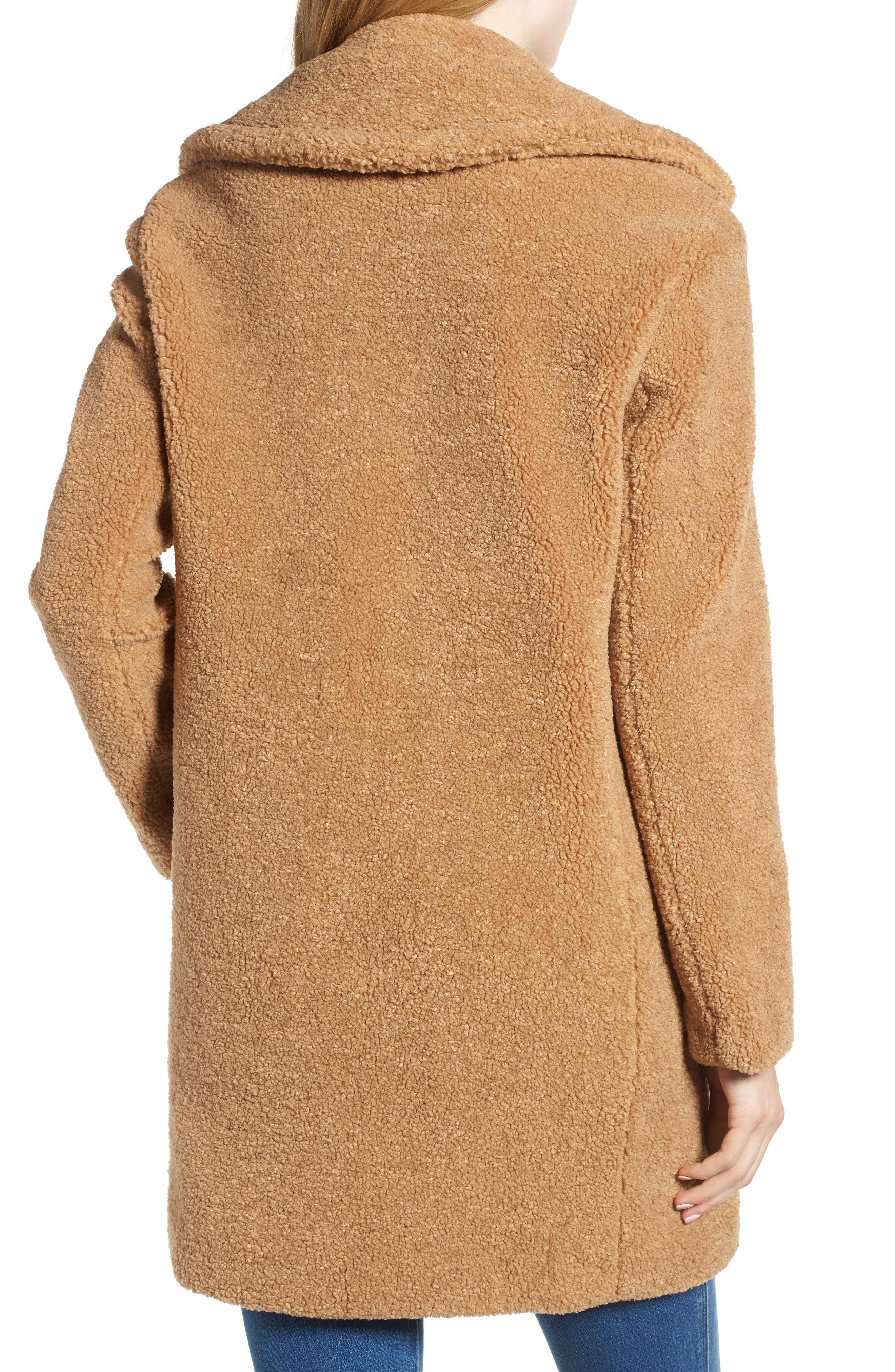 Faux Fur Teddy Bear Coat,                             Alternate thumbnail 2, color,                             256