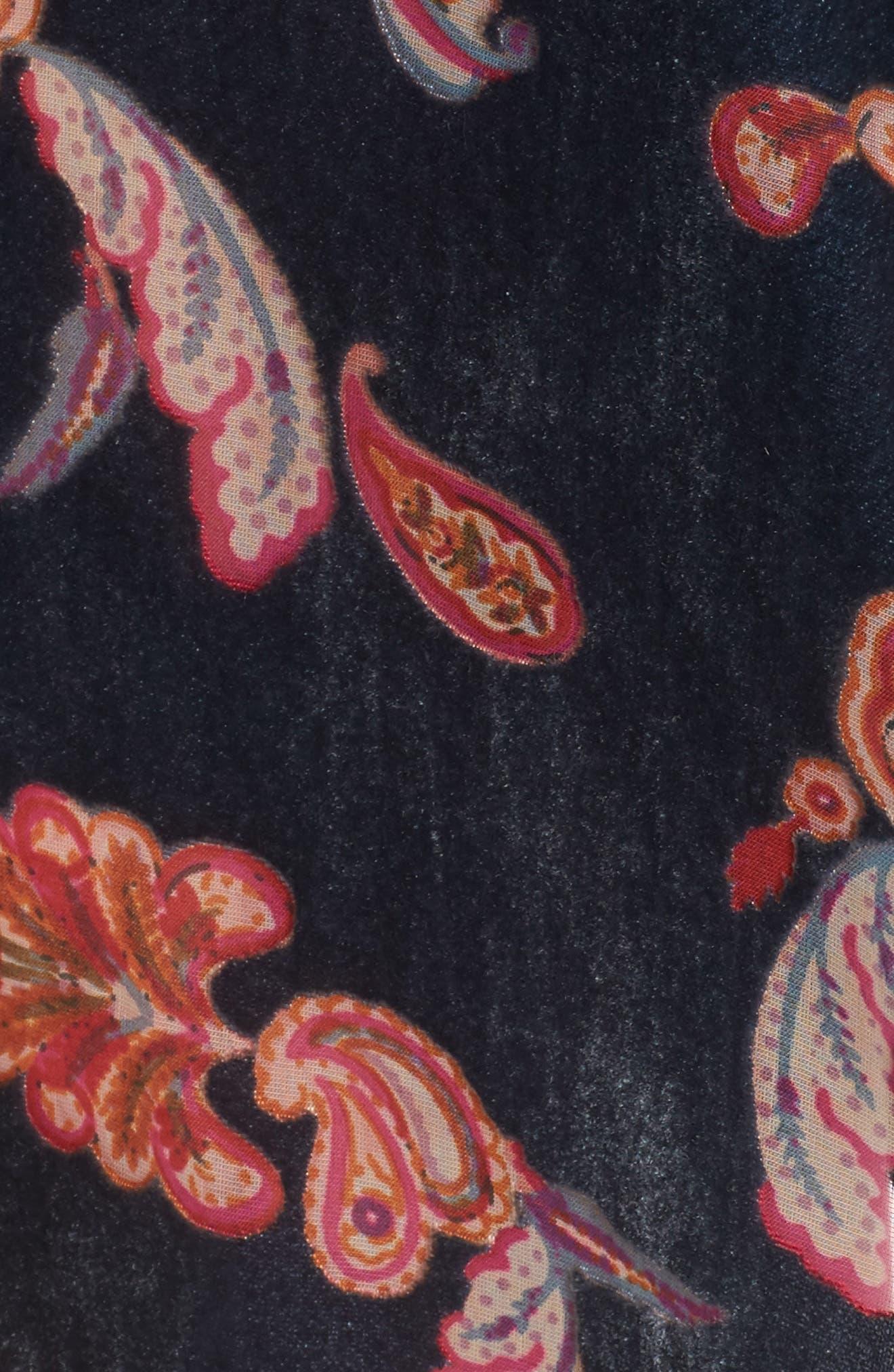 Velvet Short Robe,                             Alternate thumbnail 5, color,                             410