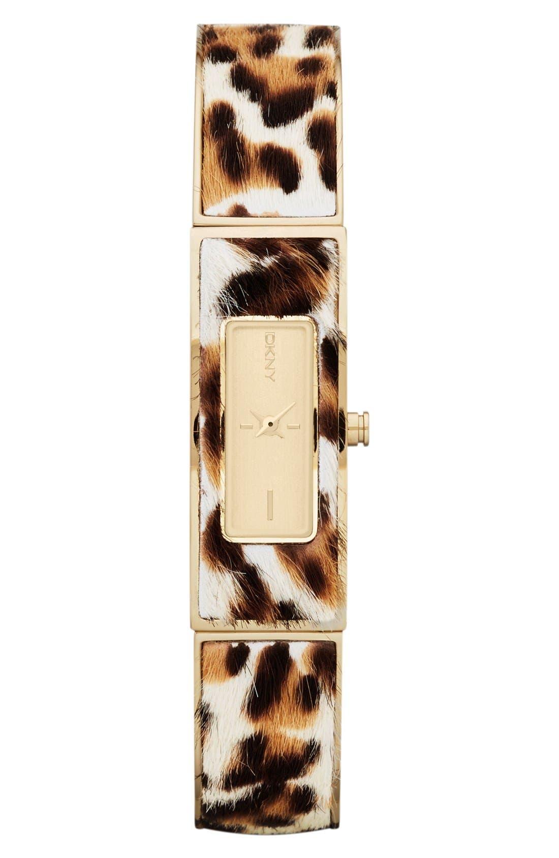 DKNY,                             Calf Hair Bangle Watch, 13mm x 33mm,                             Main thumbnail 1, color,                             200
