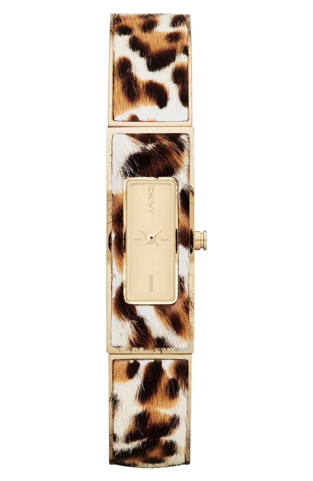 DKNY Calf Hair Bangle Watch, 13mm x 33mm, Main, color, 200