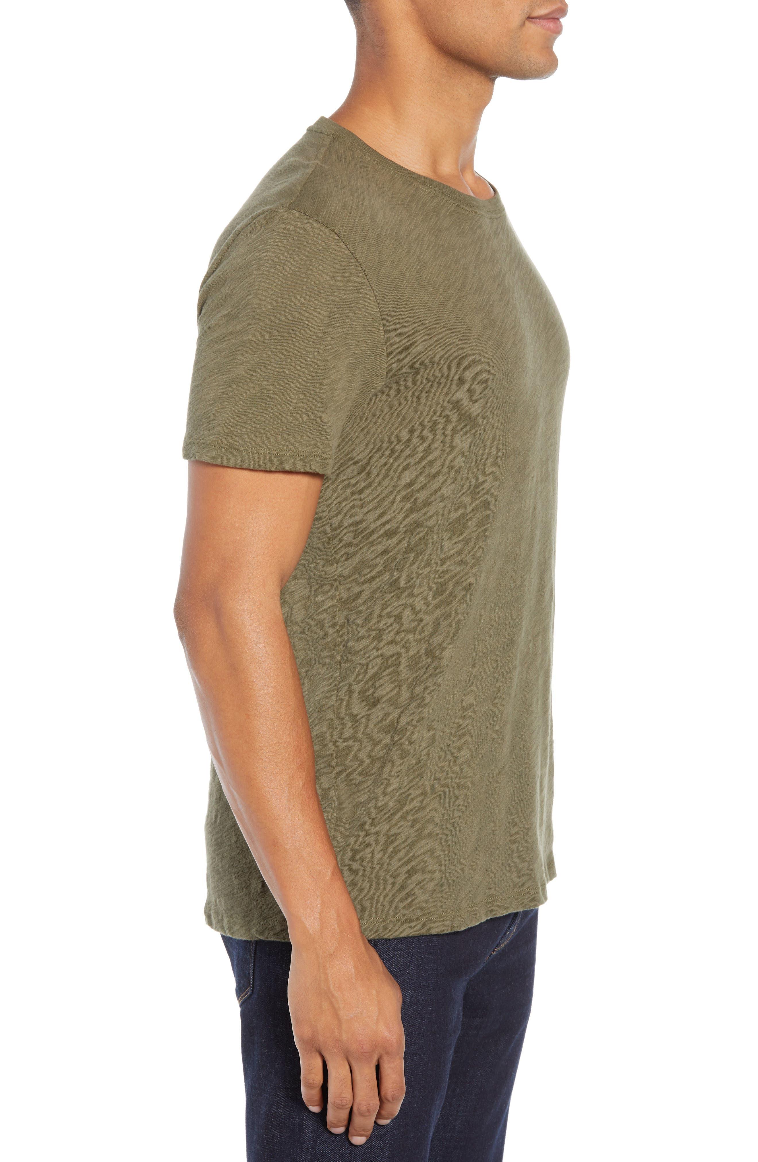 Crewneck T-Shirt,                             Alternate thumbnail 3, color,                             FATIGUE