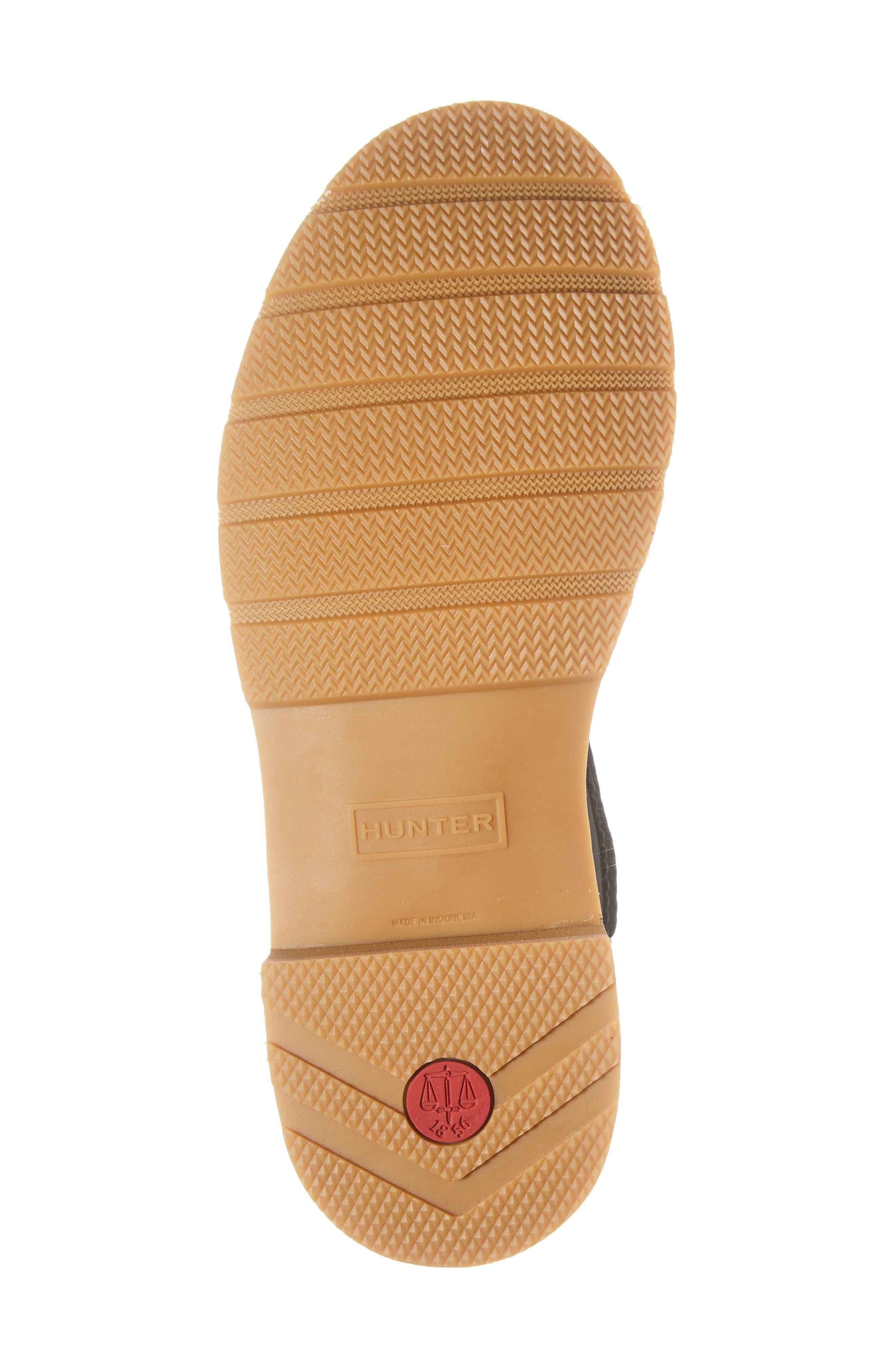 HUNTER,                             Moc Toe Waterproof Chelsea Boot,                             Alternate thumbnail 6, color,                             BLACK