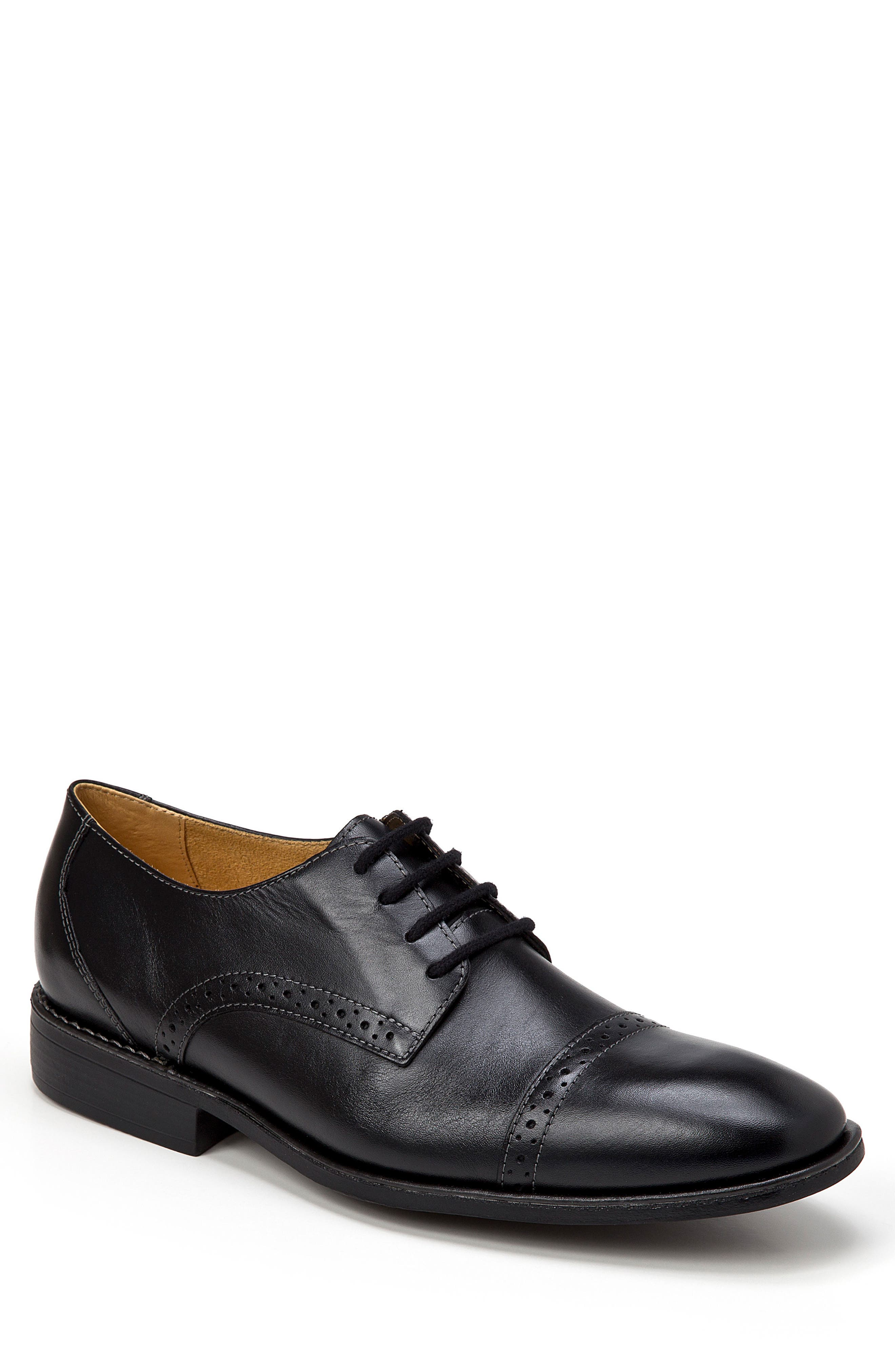 Elbert Cap Toe Derby,                             Main thumbnail 1, color,                             BLACK