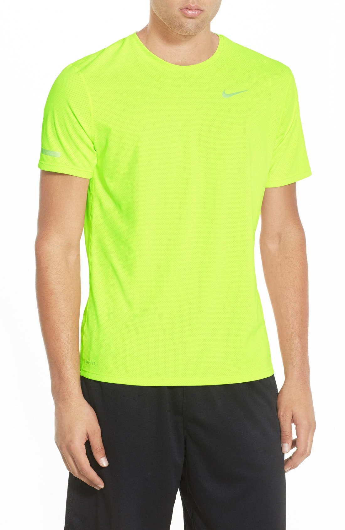 'Contour' Mesh Dri-FIT Running T-Shirt,                             Main thumbnail 6, color,
