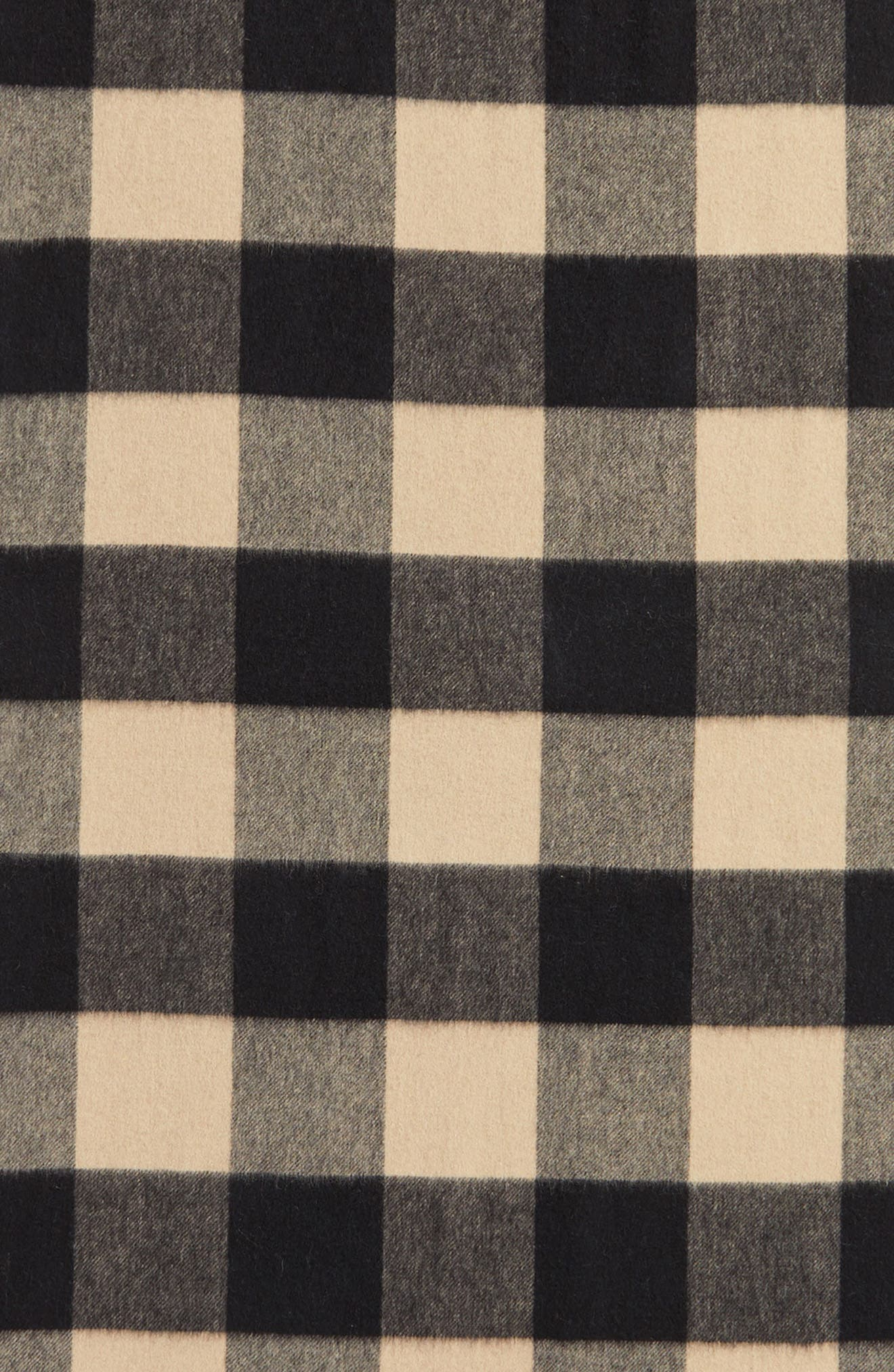 mega check wool scarf,                             Alternate thumbnail 7, color,