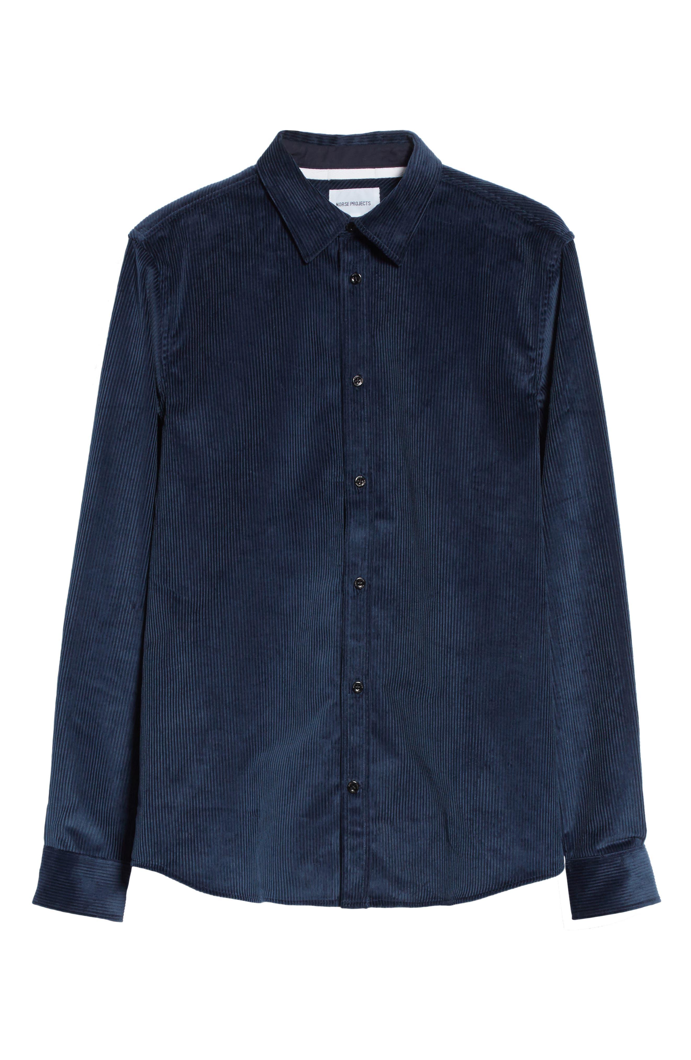 Hans Corduroy Shirt,                             Alternate thumbnail 6, color,                             405