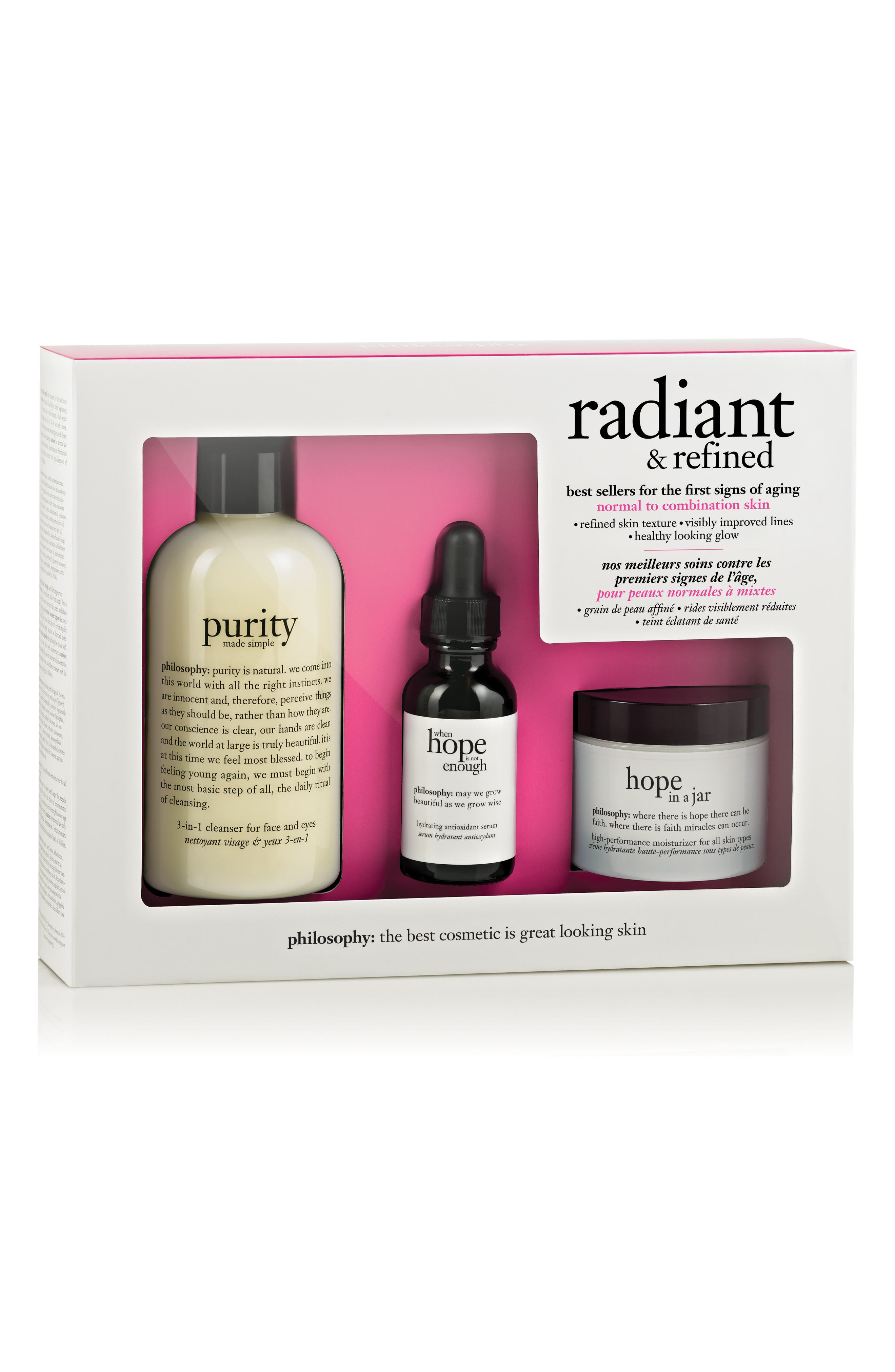 'radiant & refined' skincare set,                         Main,                         color, 000