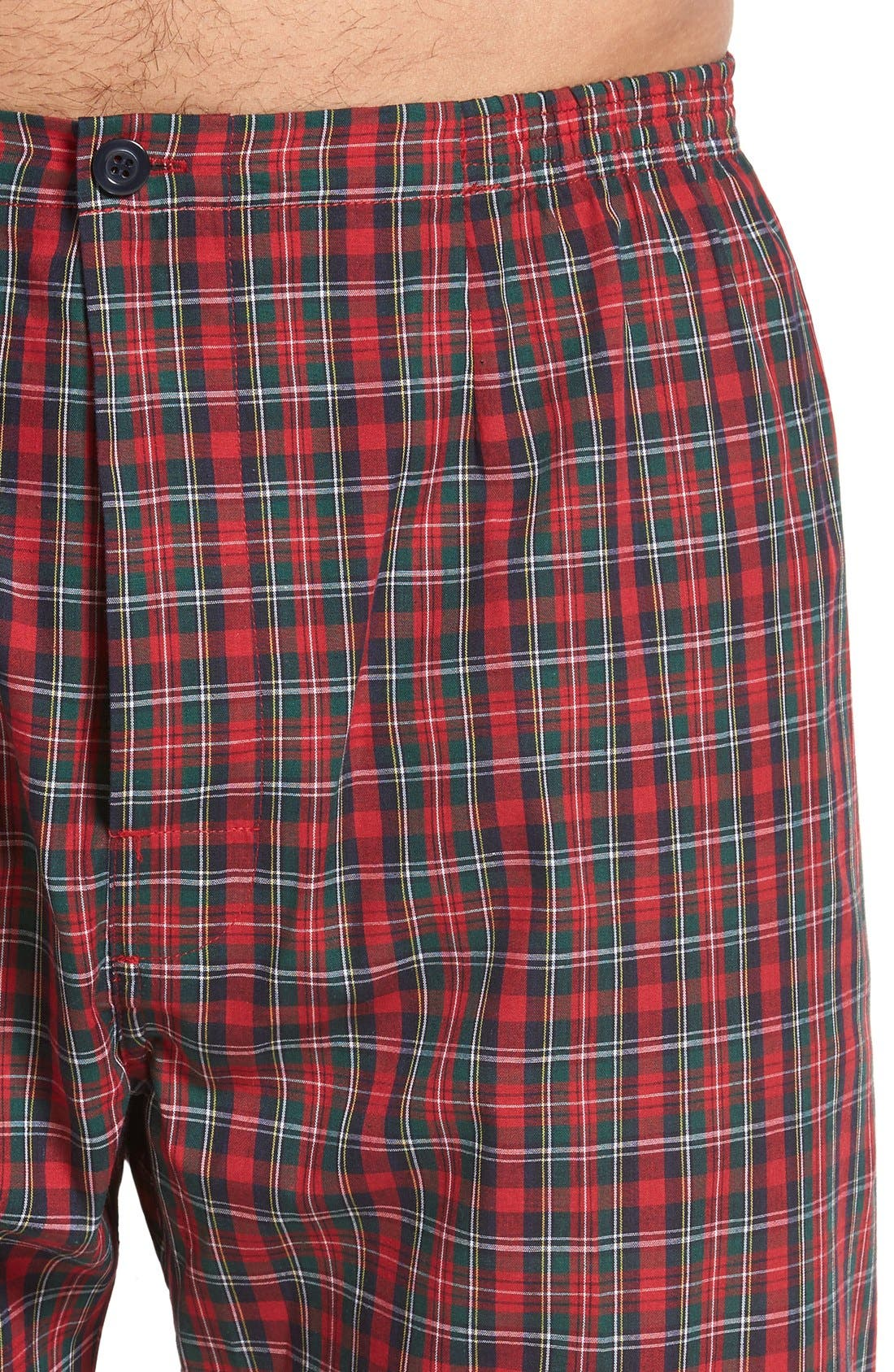 'CVC' Cotton Blend Pajamas,                             Alternate thumbnail 4, color,                             HOLIDAY RED