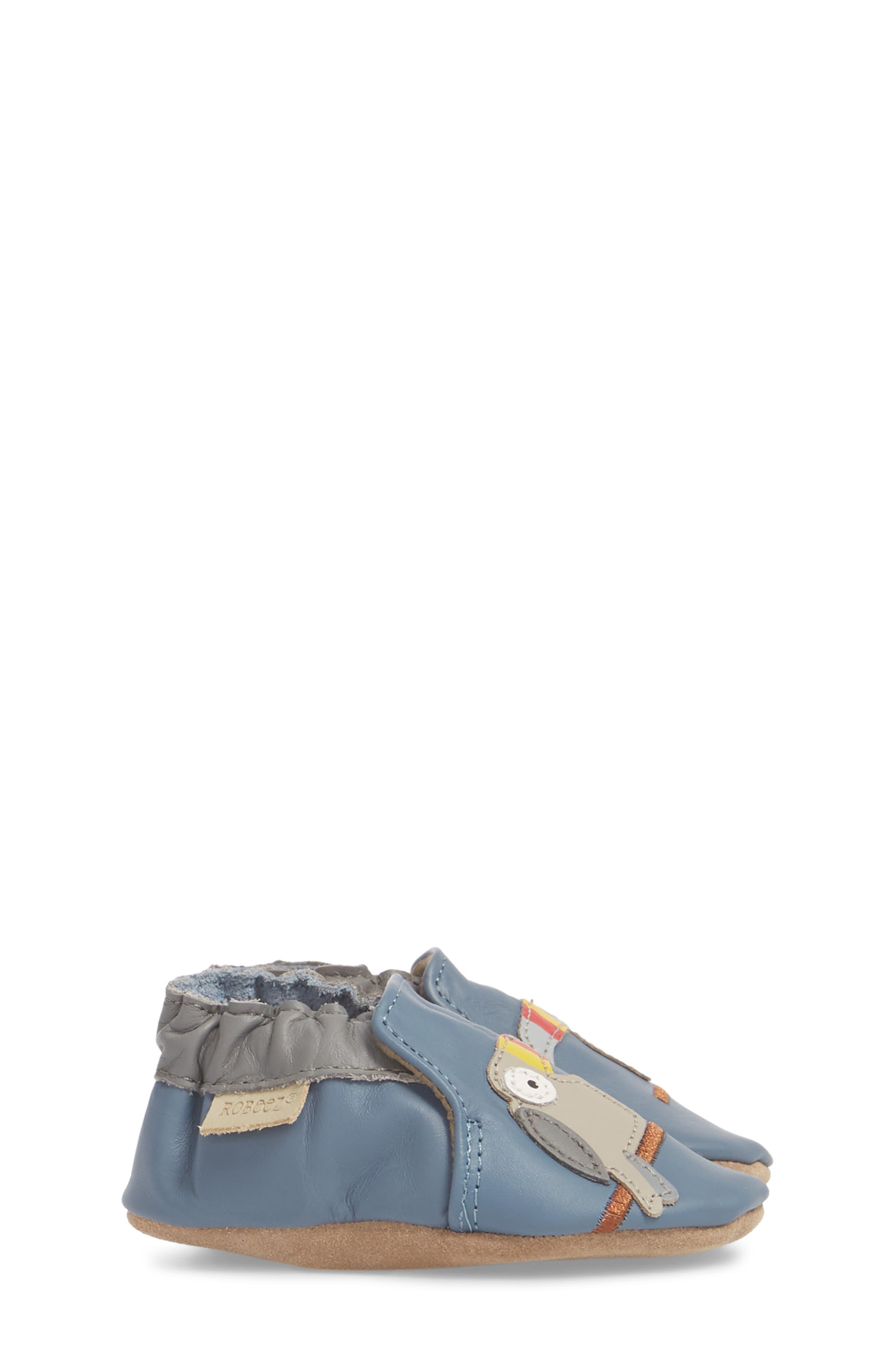 Toucan Tom Moccasin Crib Shoe,                             Alternate thumbnail 3, color,                             450