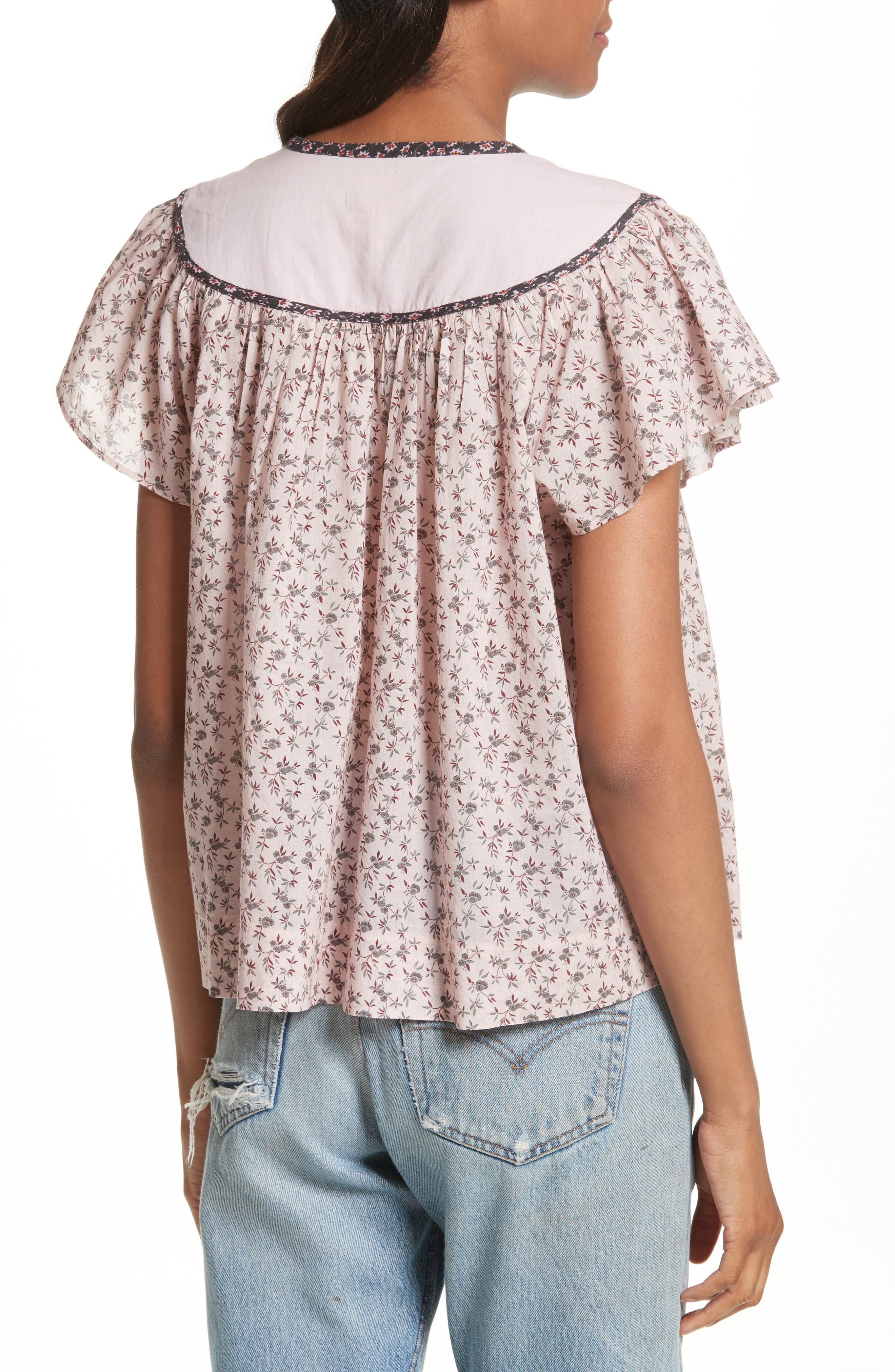 Embroidered Yoke Top,                             Alternate thumbnail 2, color,                             938