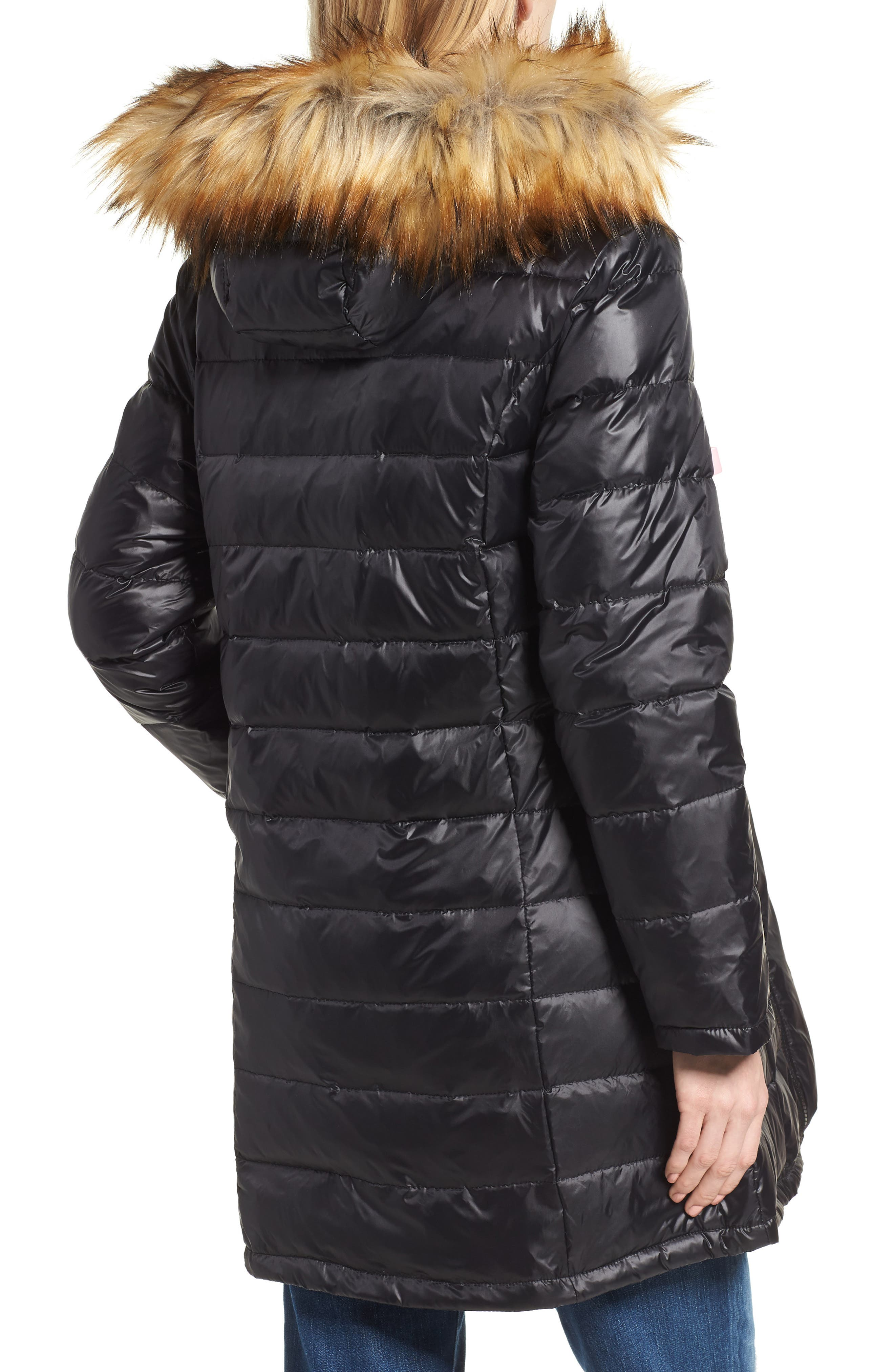 Quilted 3-in-1 Maternity/Nursing Parka,                             Alternate thumbnail 3, color,                             BLACK