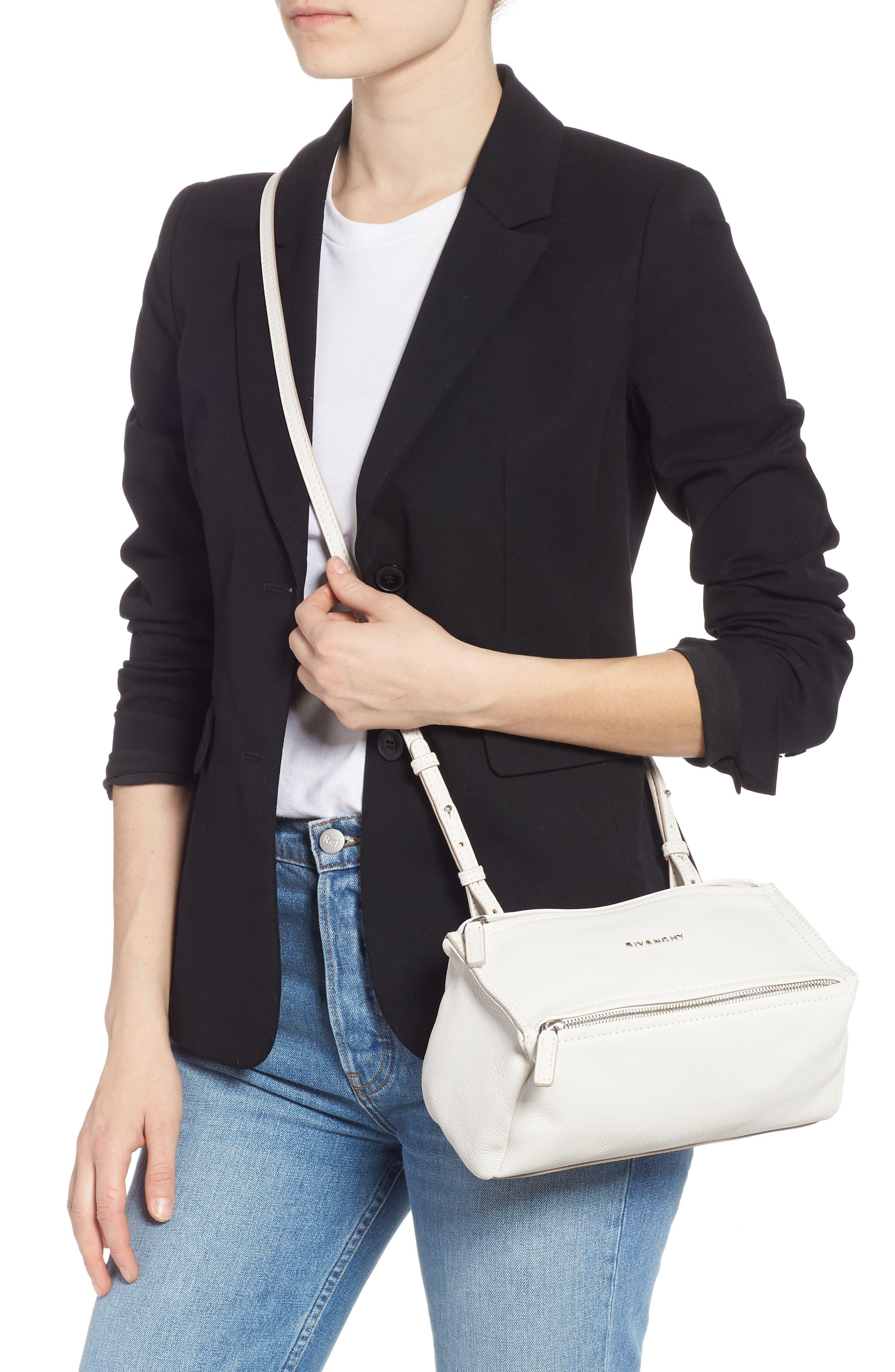'Mini Pandora' Sugar Leather Shoulder Bag,                             Alternate thumbnail 2, color,                             WHITE