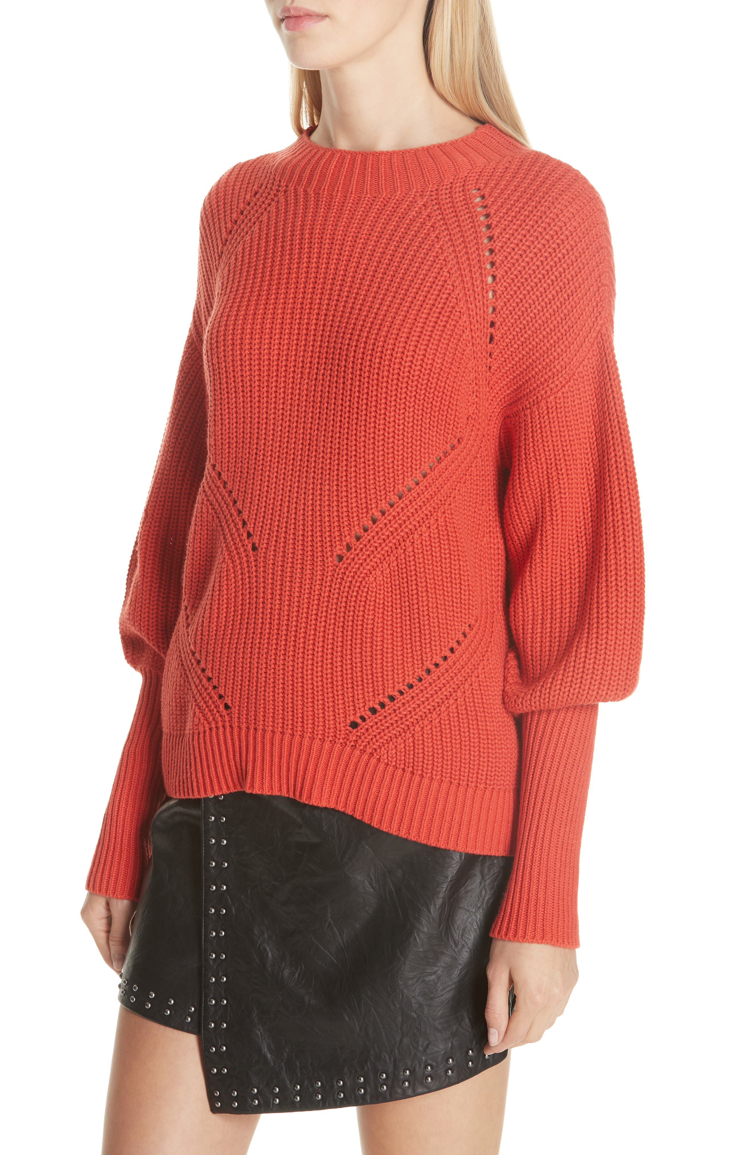 Landyn Blouson Sleeve Sweater,                             Alternate thumbnail 4, color,                             600