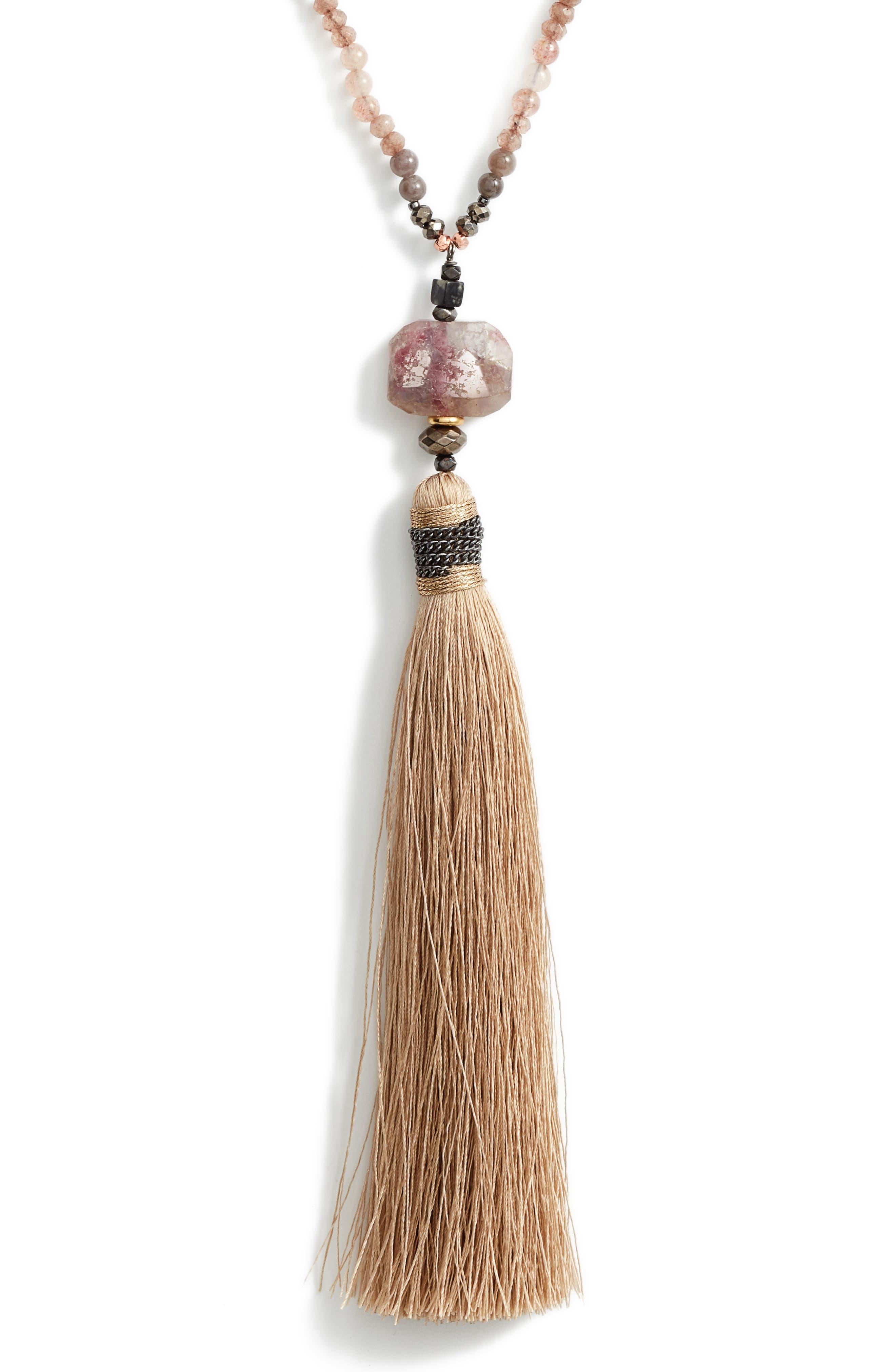 Long Tassel Necklace,                             Main thumbnail 1, color,                             250