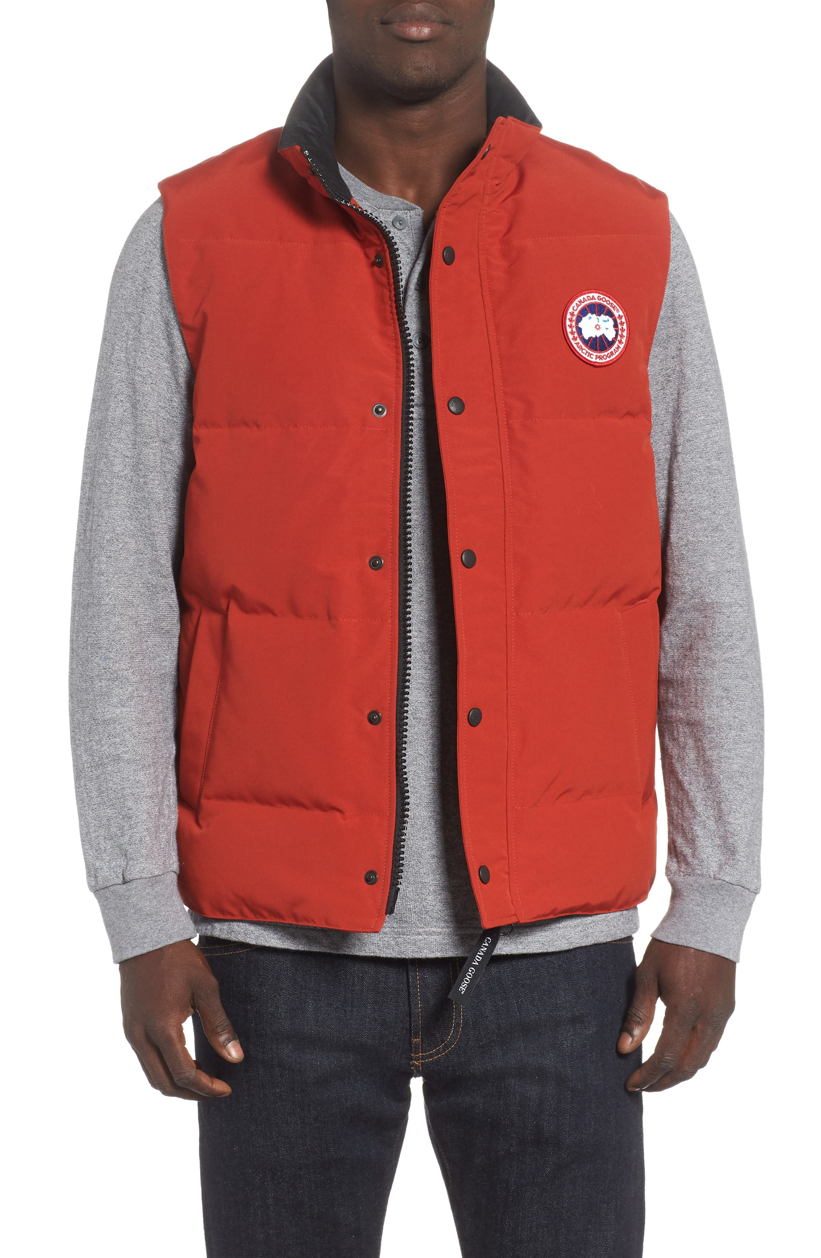 Canada Goose Garson Regular Fit Quilted Down Vest, Red