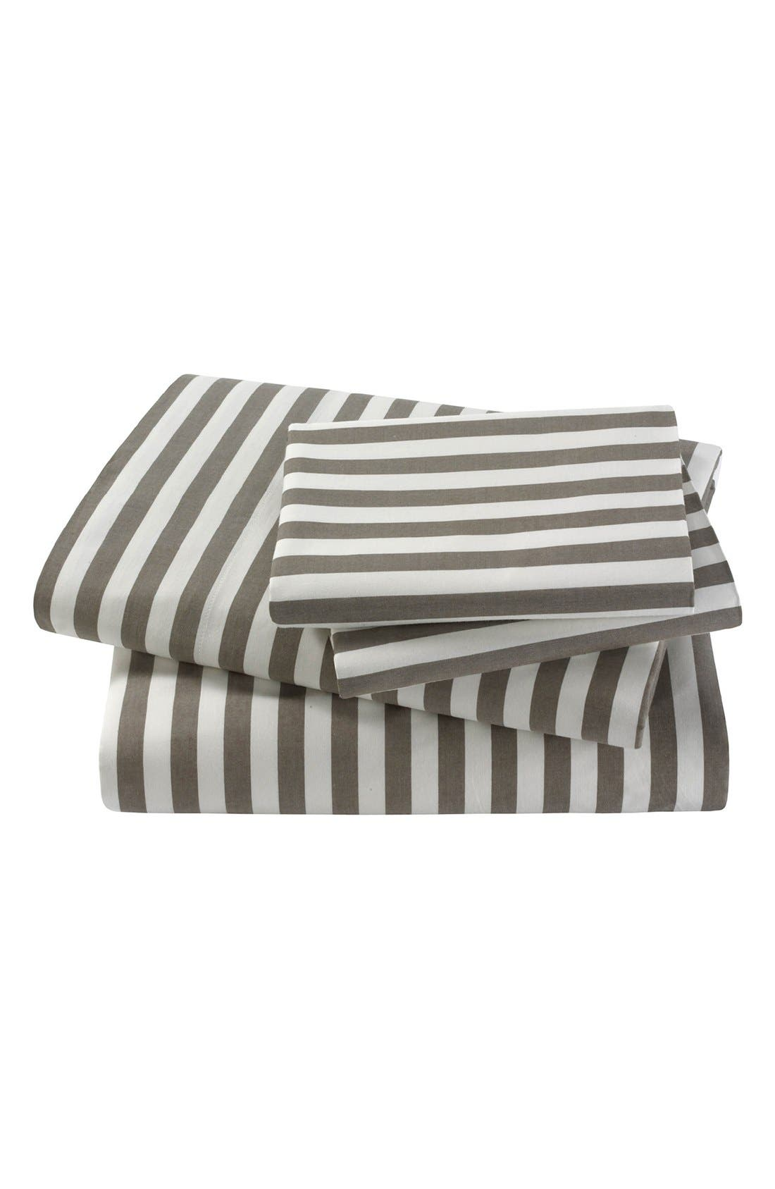 'Draper Stripe' 300 Thread Count Sheet Set, Main, color, 020