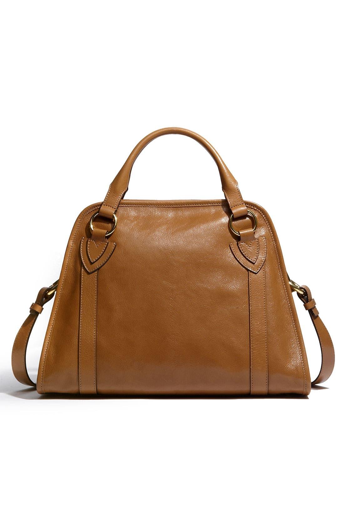 'Classic Wellington' Leather Satchel,                             Alternate thumbnail 21, color,