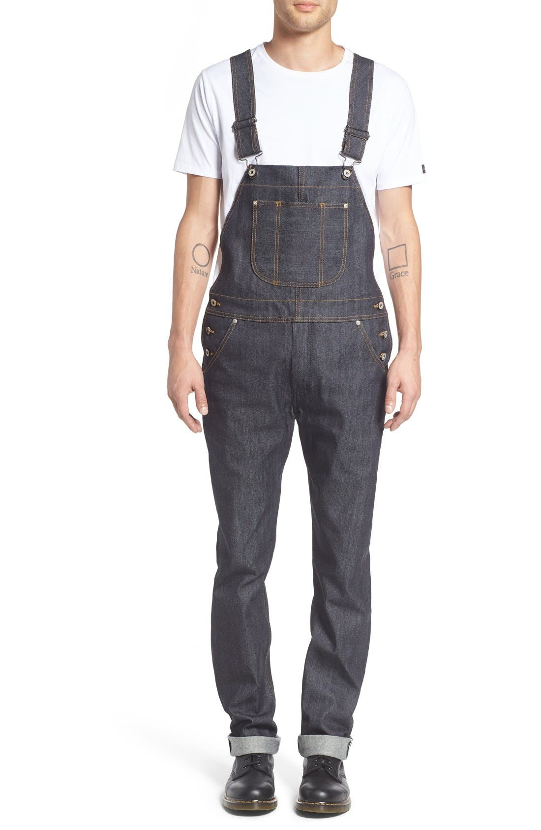 NAKED & FAMOUS DENIM Overalls, Main, color, 400