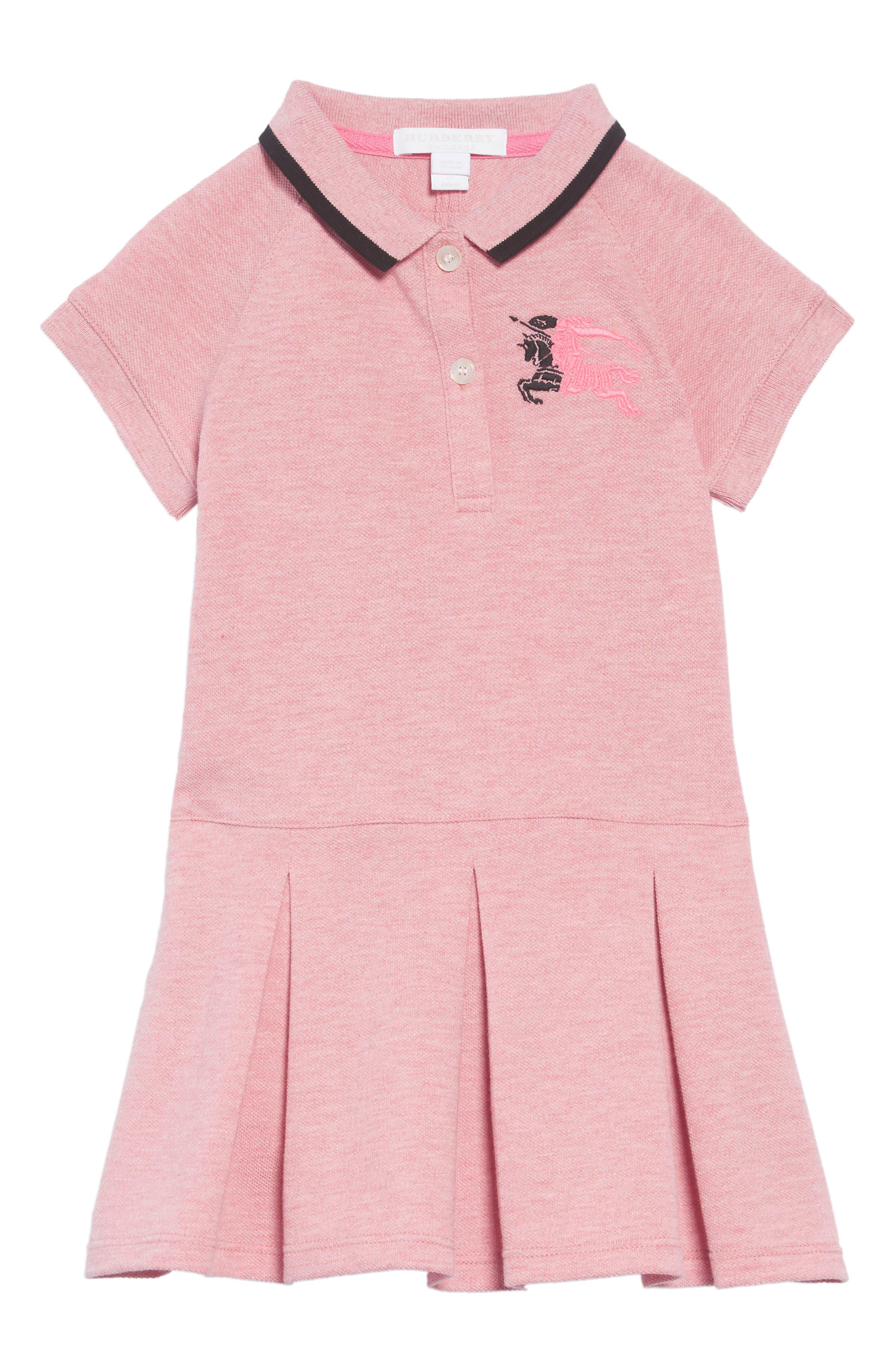 Mollyanna Polo Dress,                             Main thumbnail 1, color,                             PALE PINK MELANGE