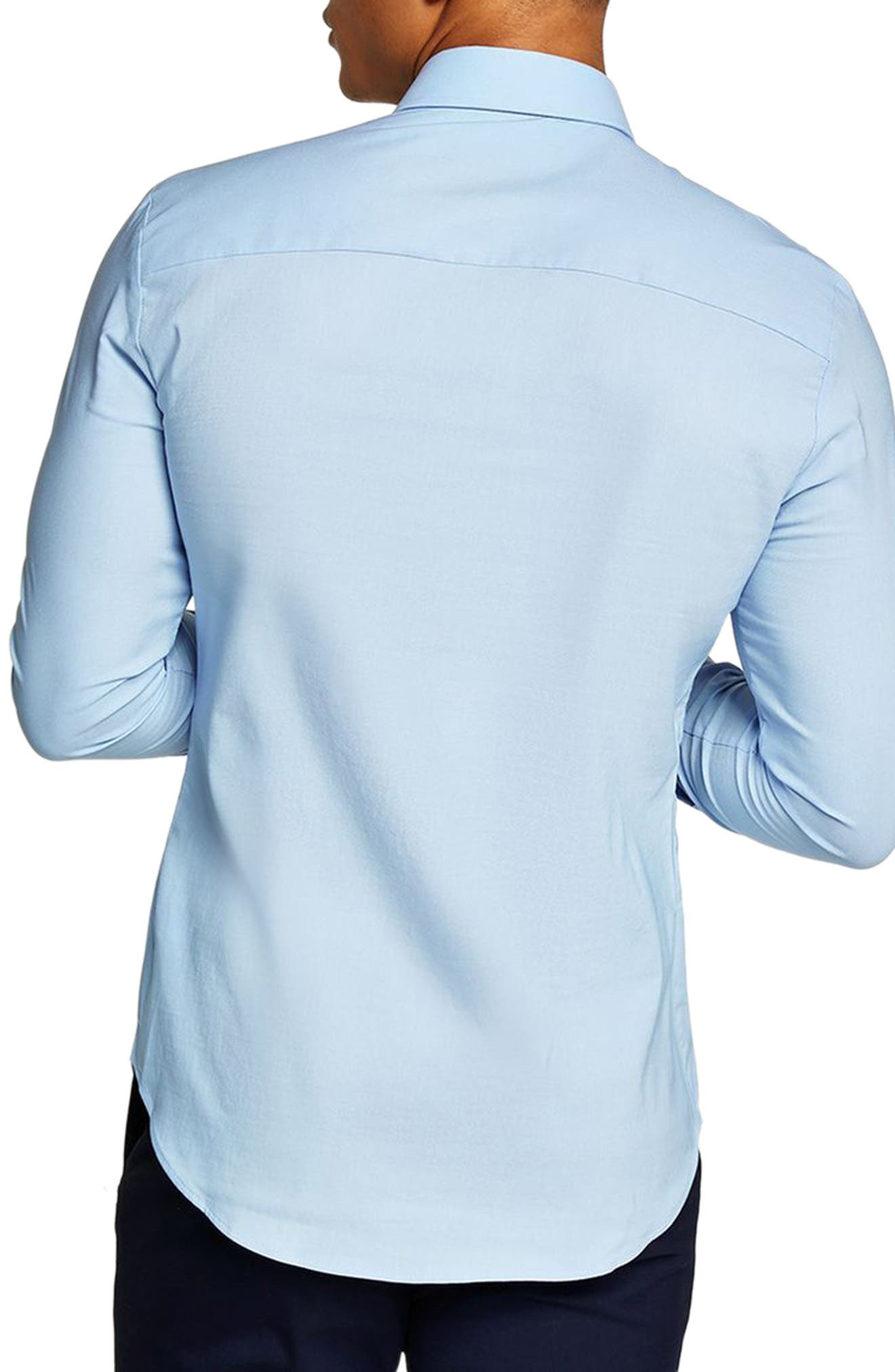 Muscle Fit Dress Shirt,                             Alternate thumbnail 2, color,                             LIGHT BLUE