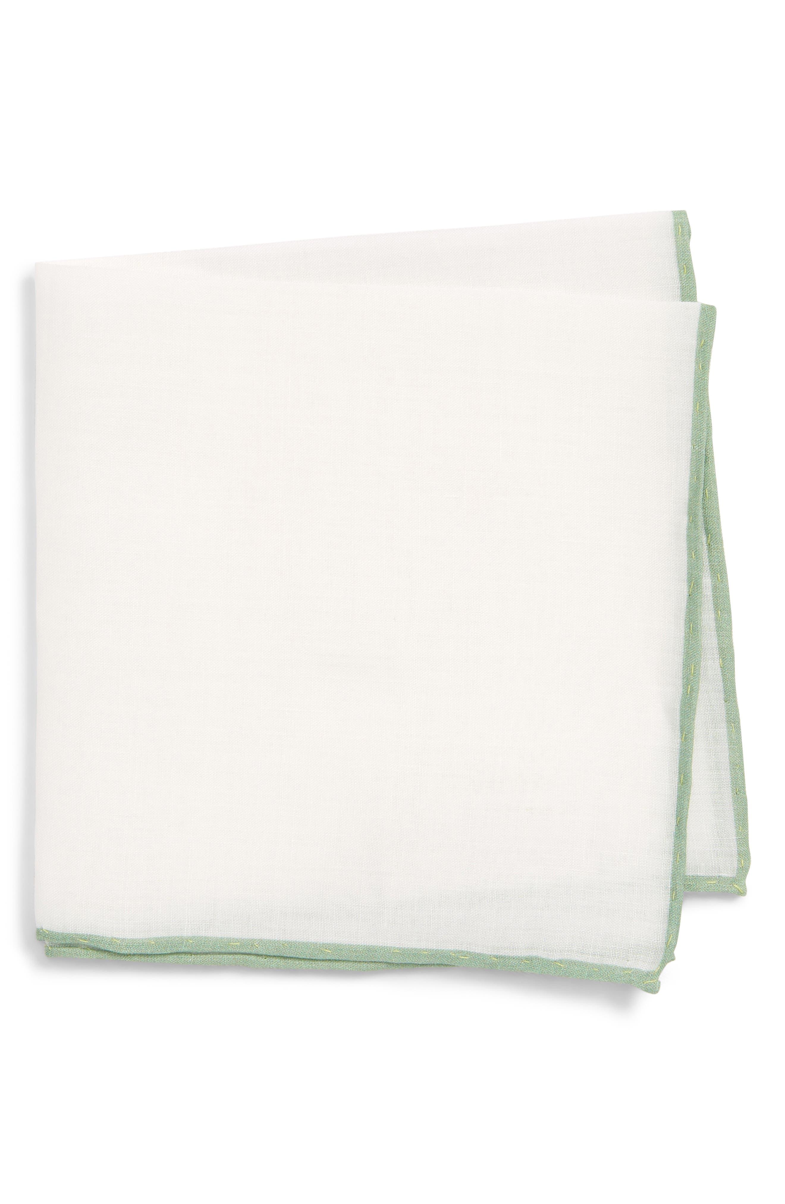 Solid Linen Pocket Square,                         Main,                         color, 157