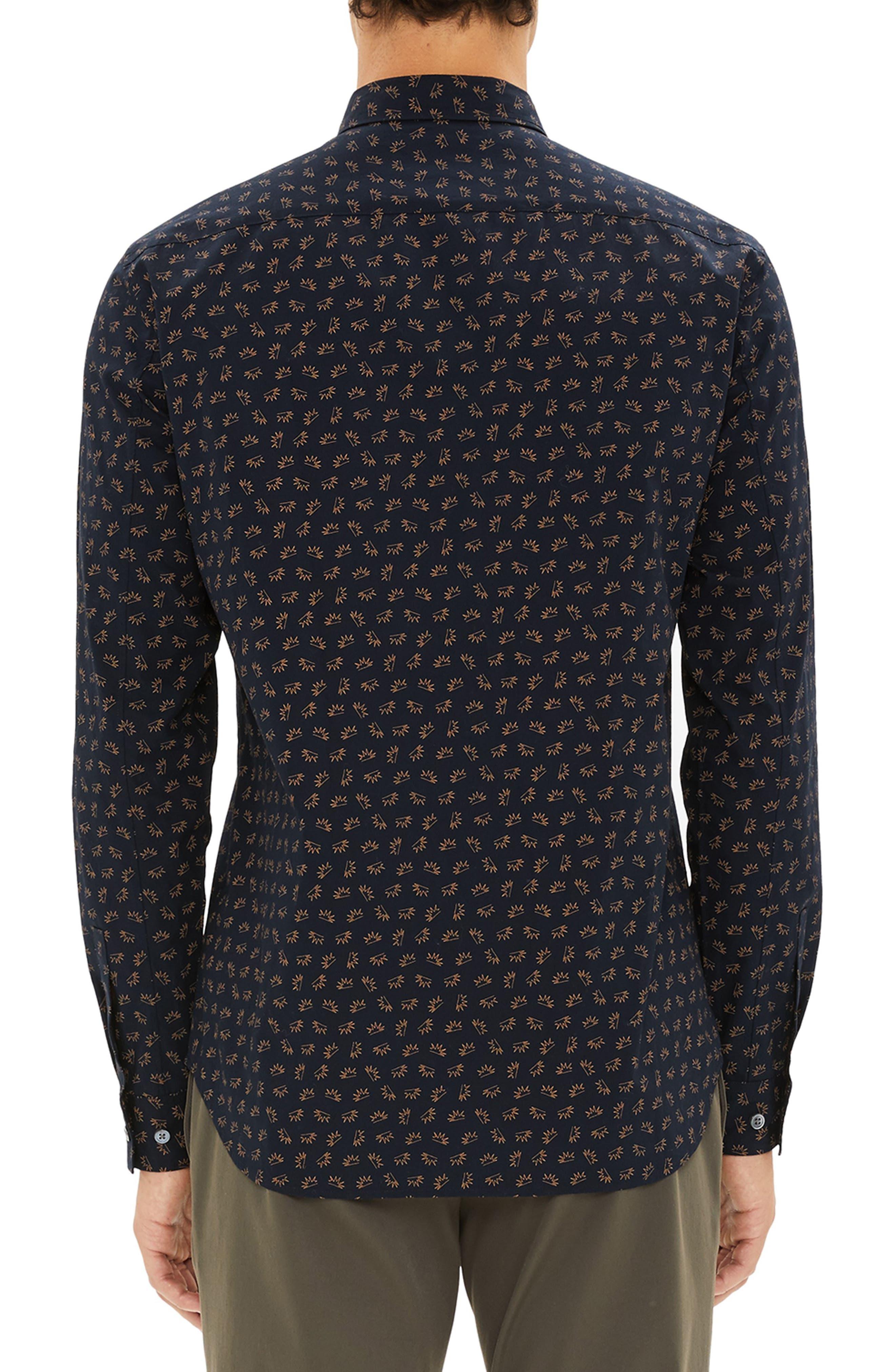 Irving Regular Fit Crown Print Sport Shirt,                             Alternate thumbnail 2, color,                             400