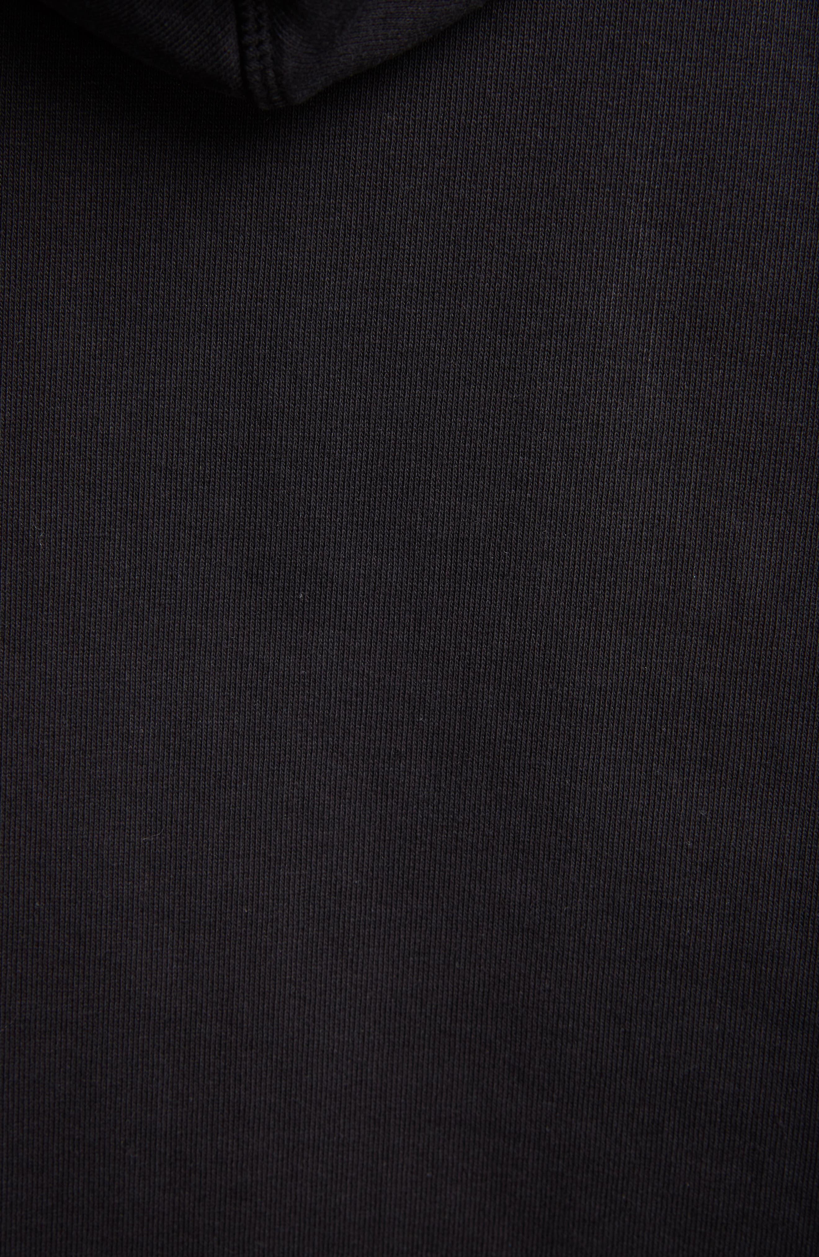 ACNE STUDIOS,                             Joghy Embossed Logo Crop Hoodie,                             Alternate thumbnail 5, color,                             BLACK
