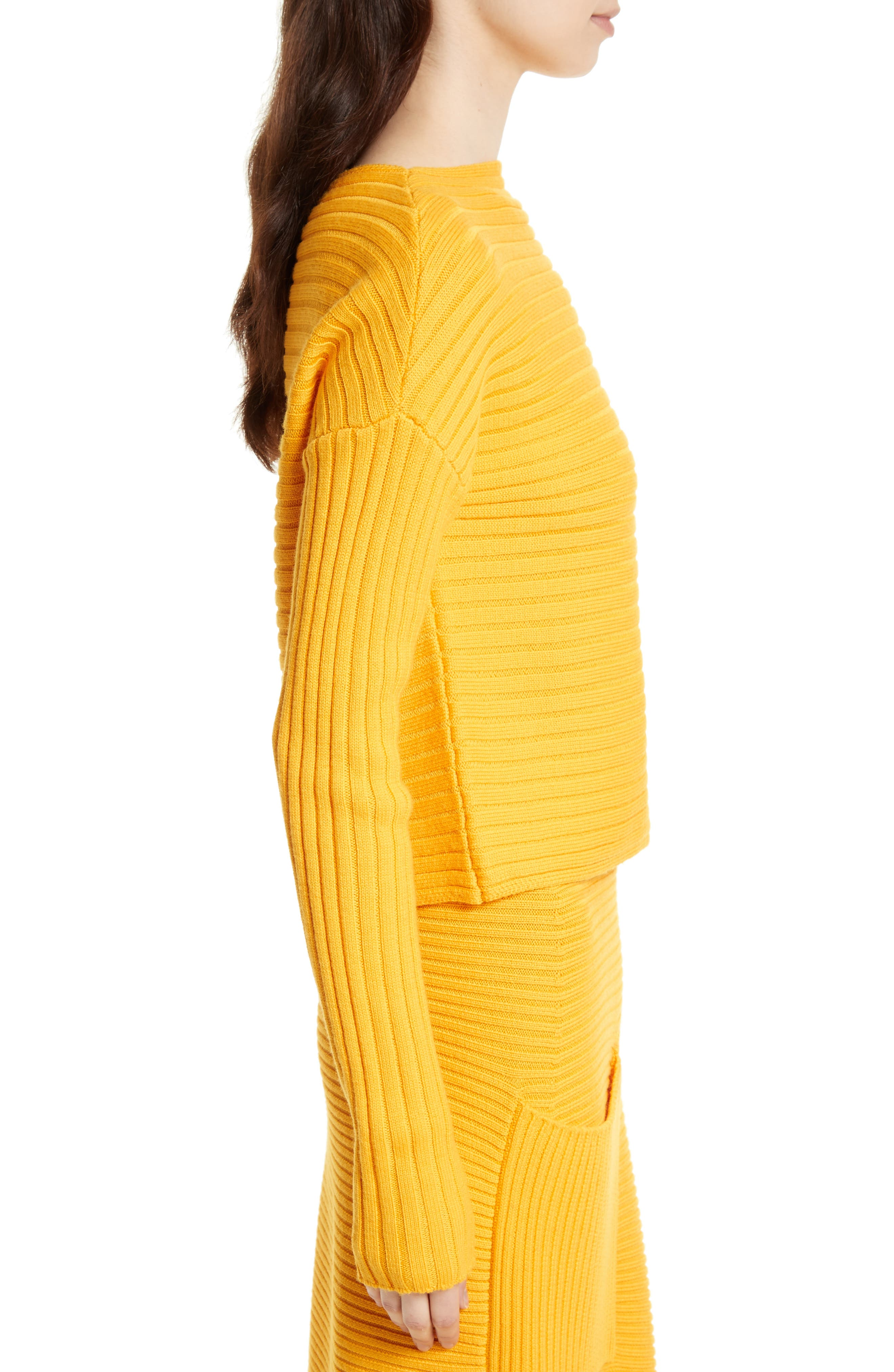 Ribbed Wool Sweater,                             Alternate thumbnail 6, color,