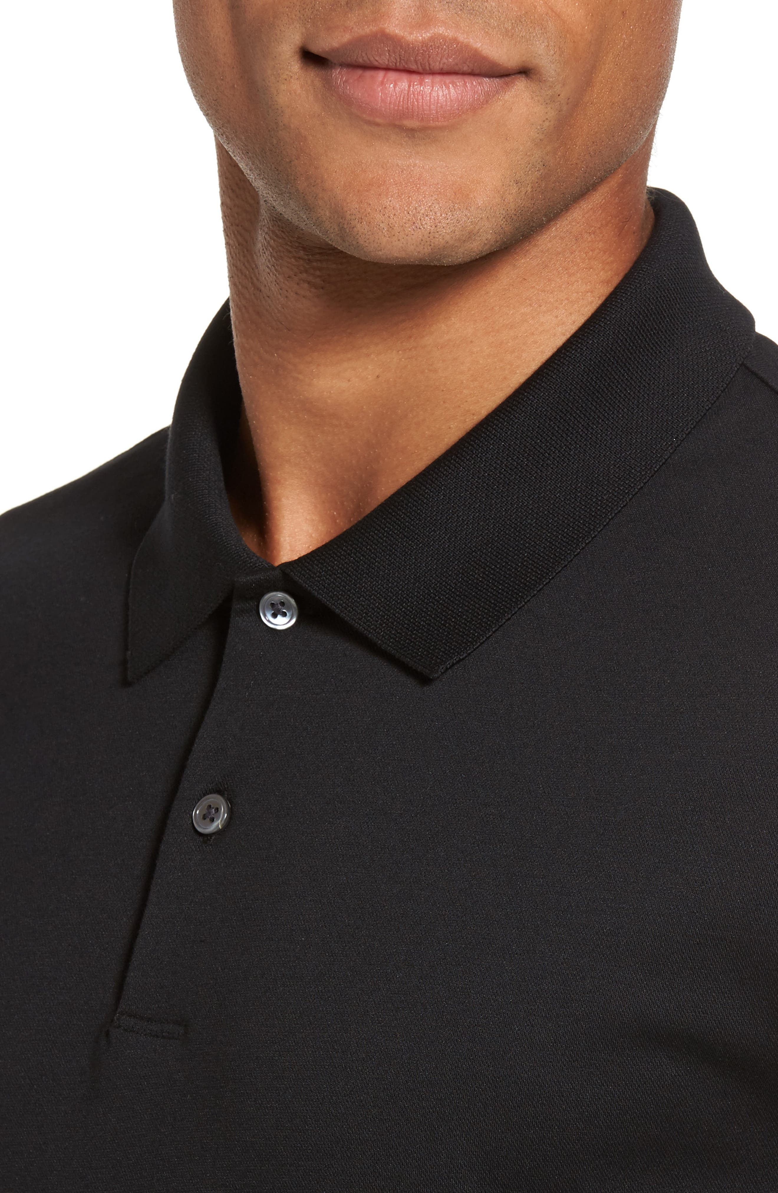Current Tipped Piqué Polo,                             Alternate thumbnail 4, color,                             001