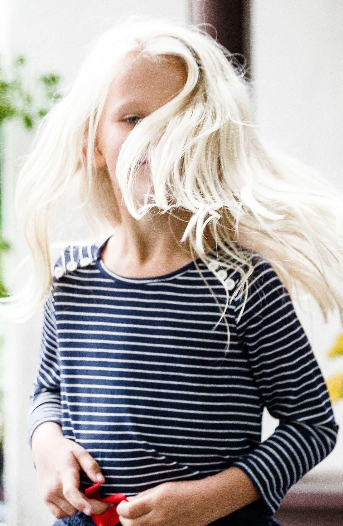 Bella Stripe Knit Tee,                             Alternate thumbnail 3, color,