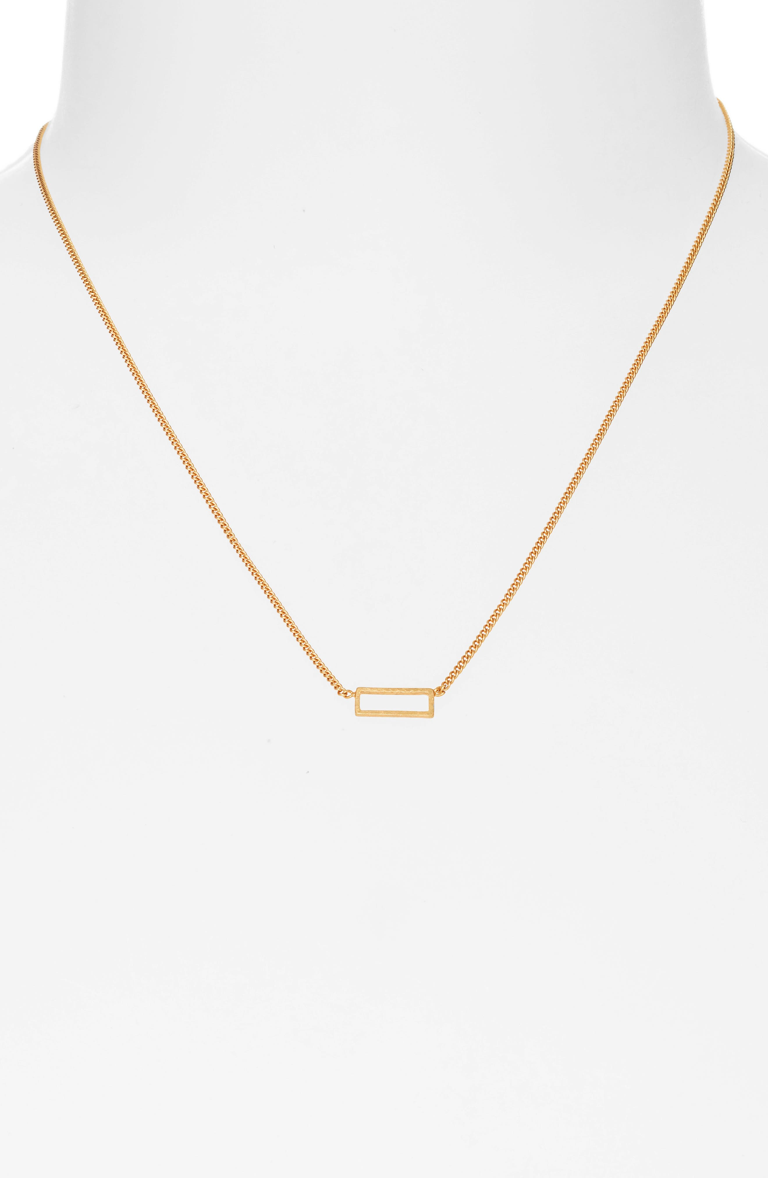 Gilded Frame Necklace,                             Alternate thumbnail 2, color,                             VINTAGE GOLD