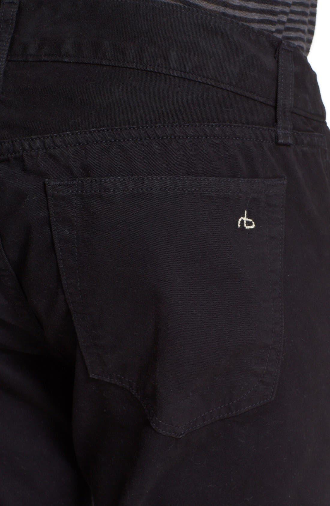 'Fit 2' Cotton Twill Pants,                             Alternate thumbnail 4, color,                             001