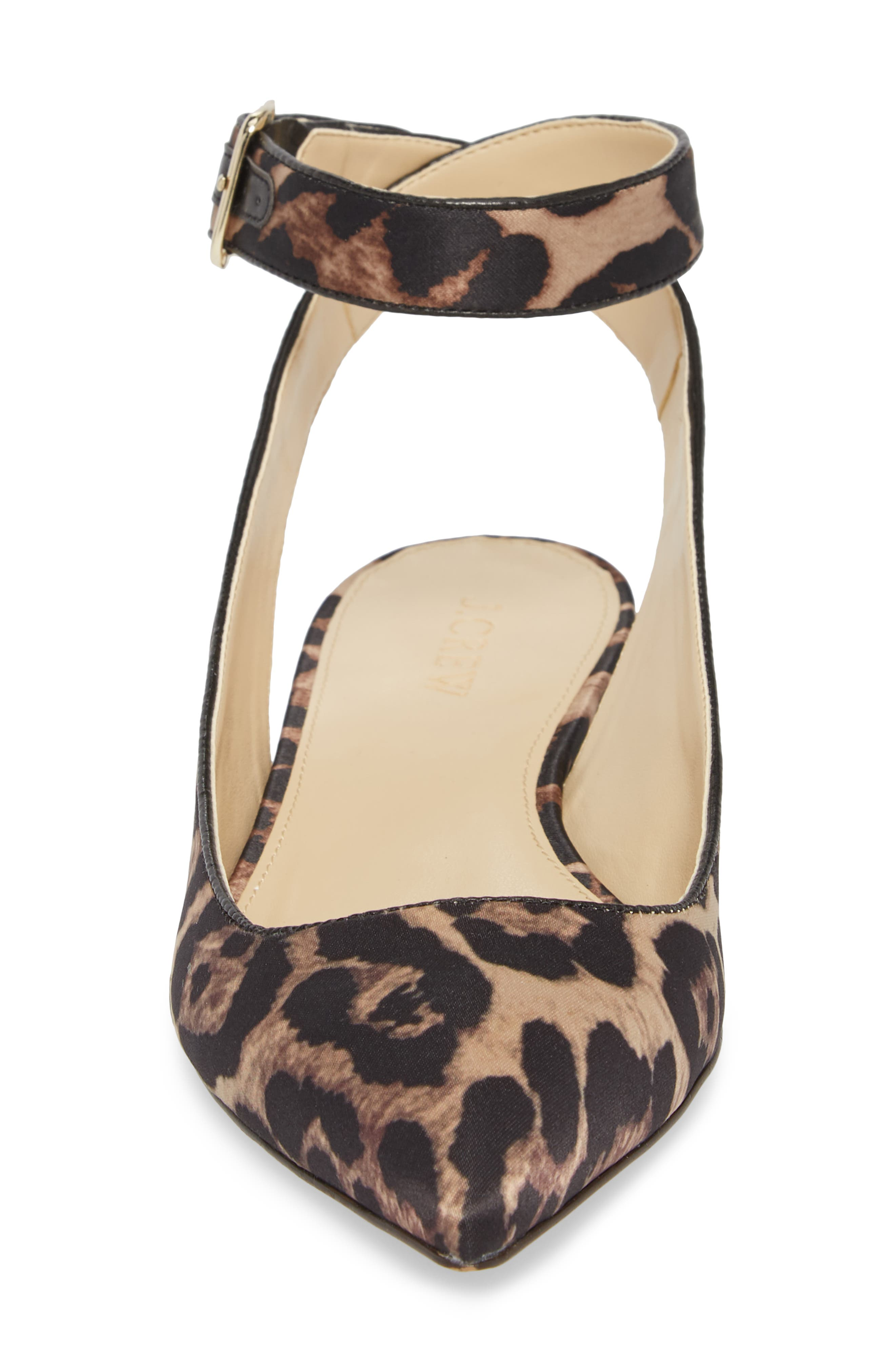 J. Crew Harlech Tabby Print Ankle Strap Flat,                             Alternate thumbnail 4, color,
