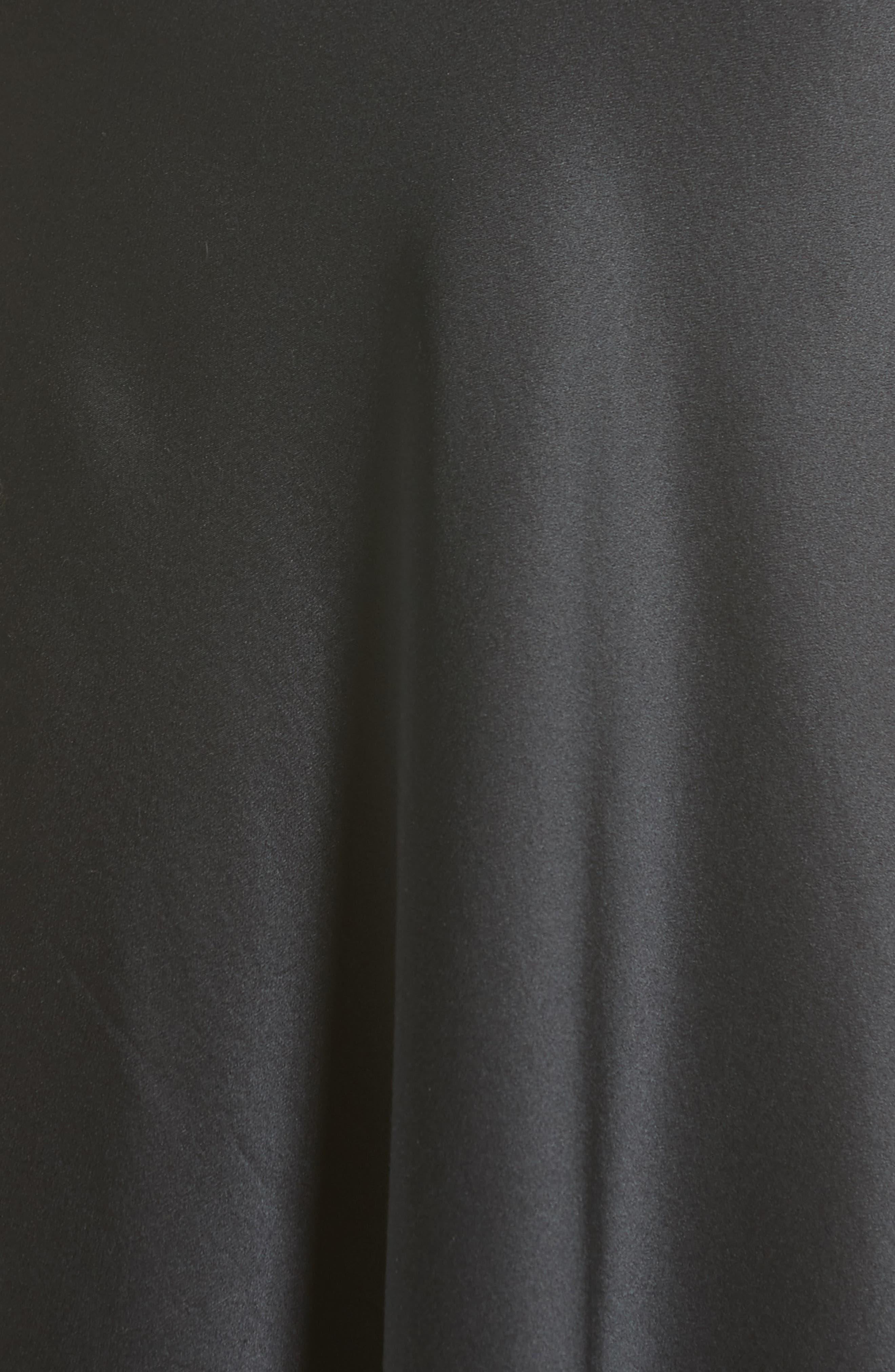 Elastic Waist Slip Skirt,                             Alternate thumbnail 5, color,                             001