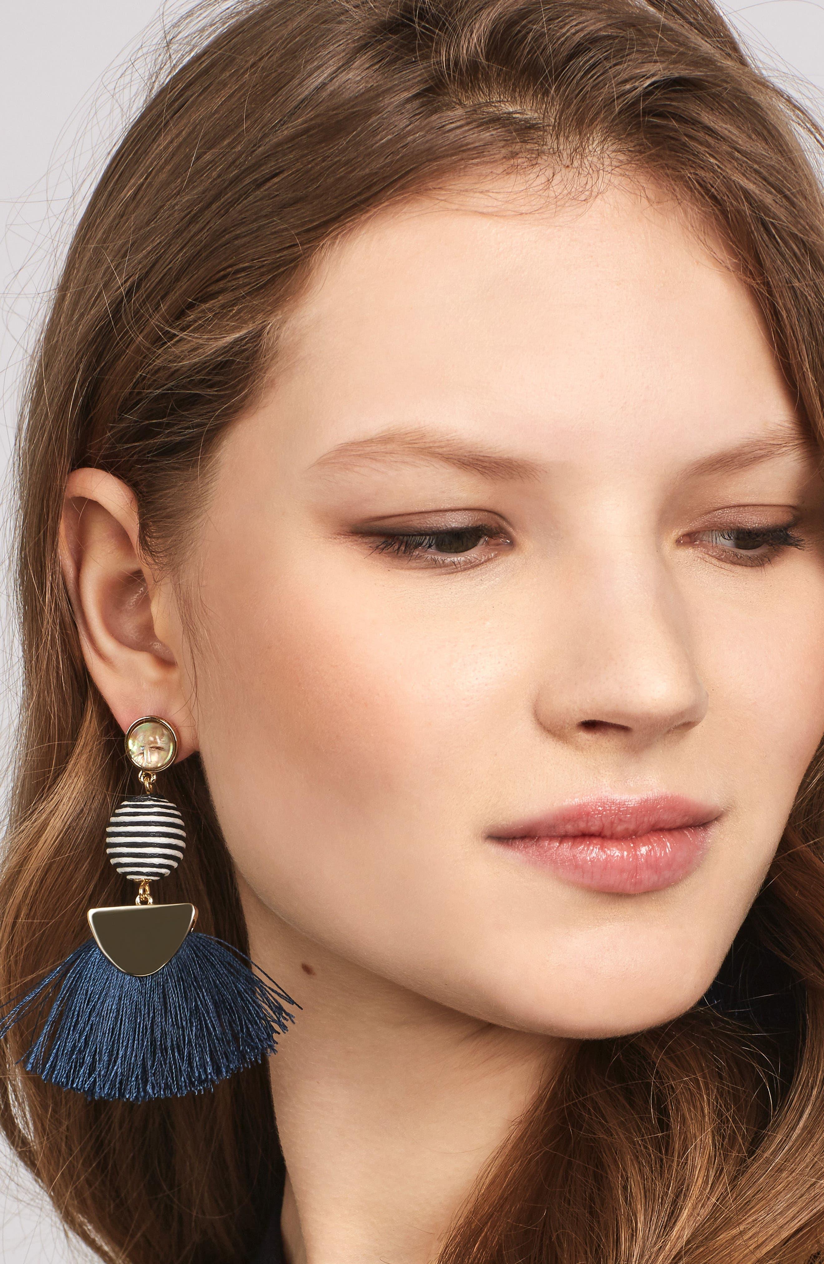 Mamba Fringe Earrings,                             Alternate thumbnail 2, color,                             410