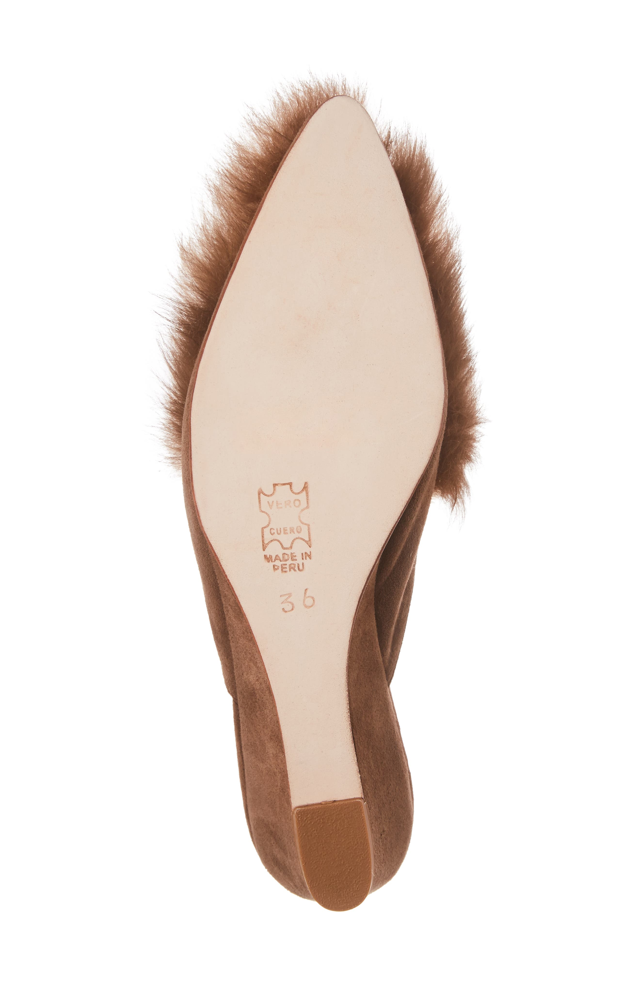 Antonia Genuine Alpaca Fur Wedge Mule,                             Alternate thumbnail 6, color,                             232