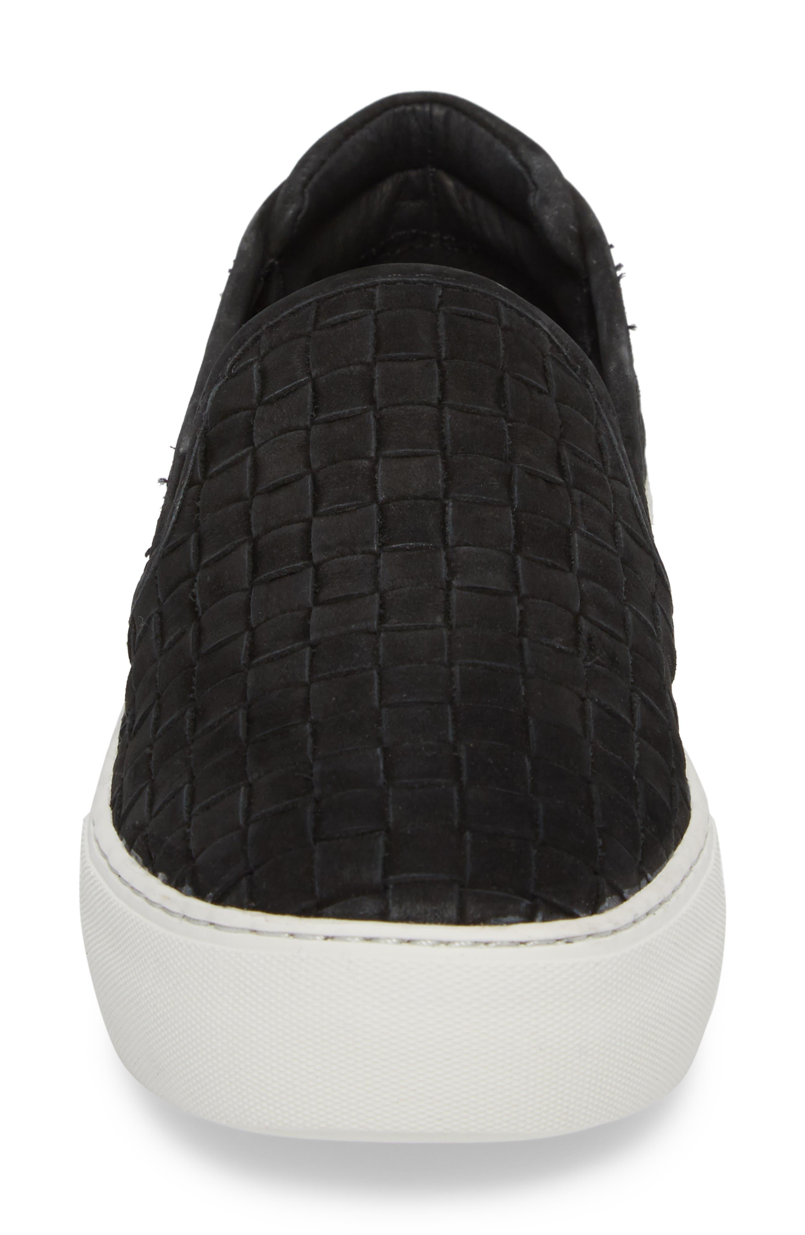 Proper Slip-On Sneaker,                             Alternate thumbnail 4, color,                             BLACK NUBUCK