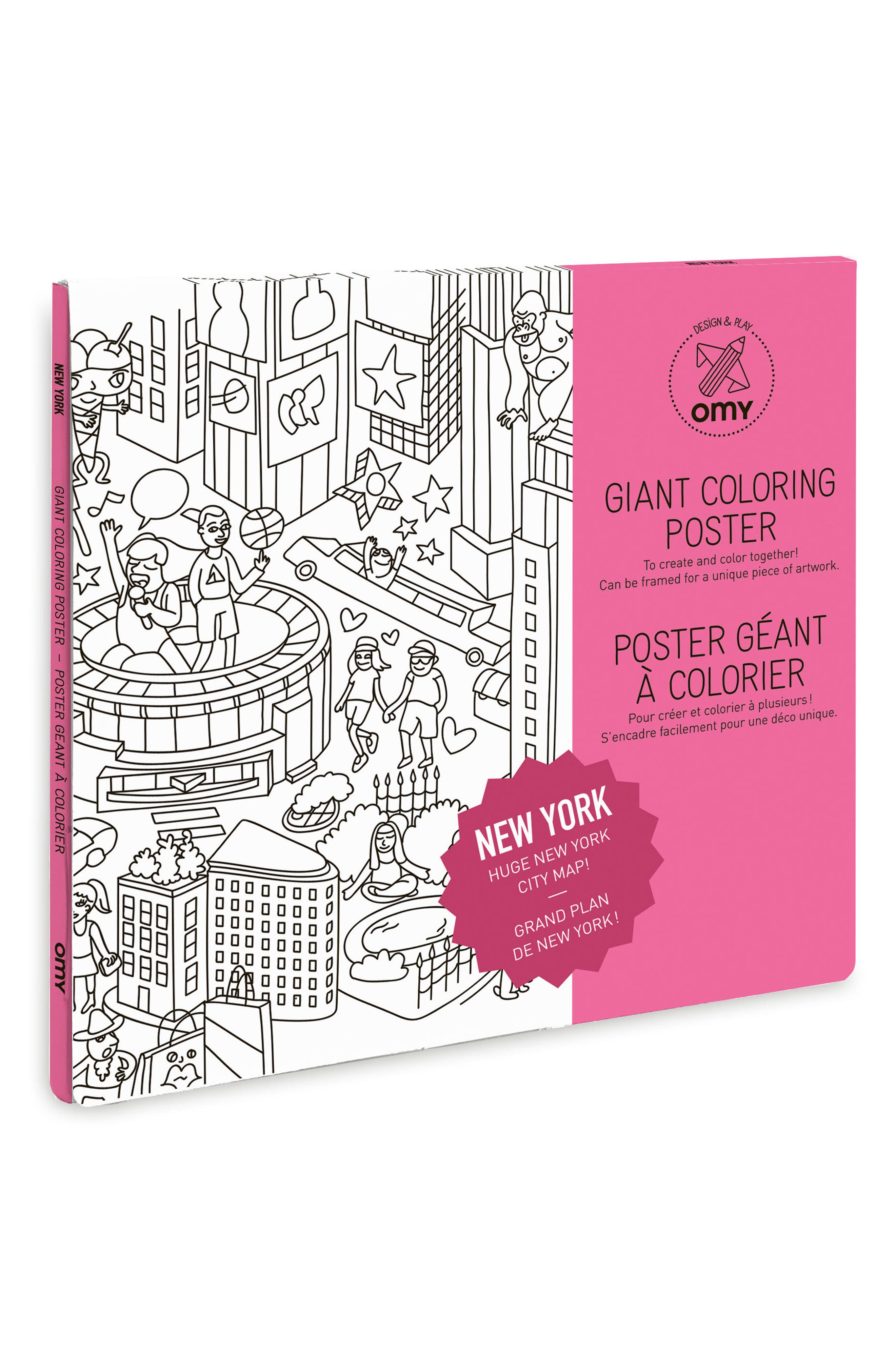 Giant New York City Coloring Poster,                             Main thumbnail 1, color,