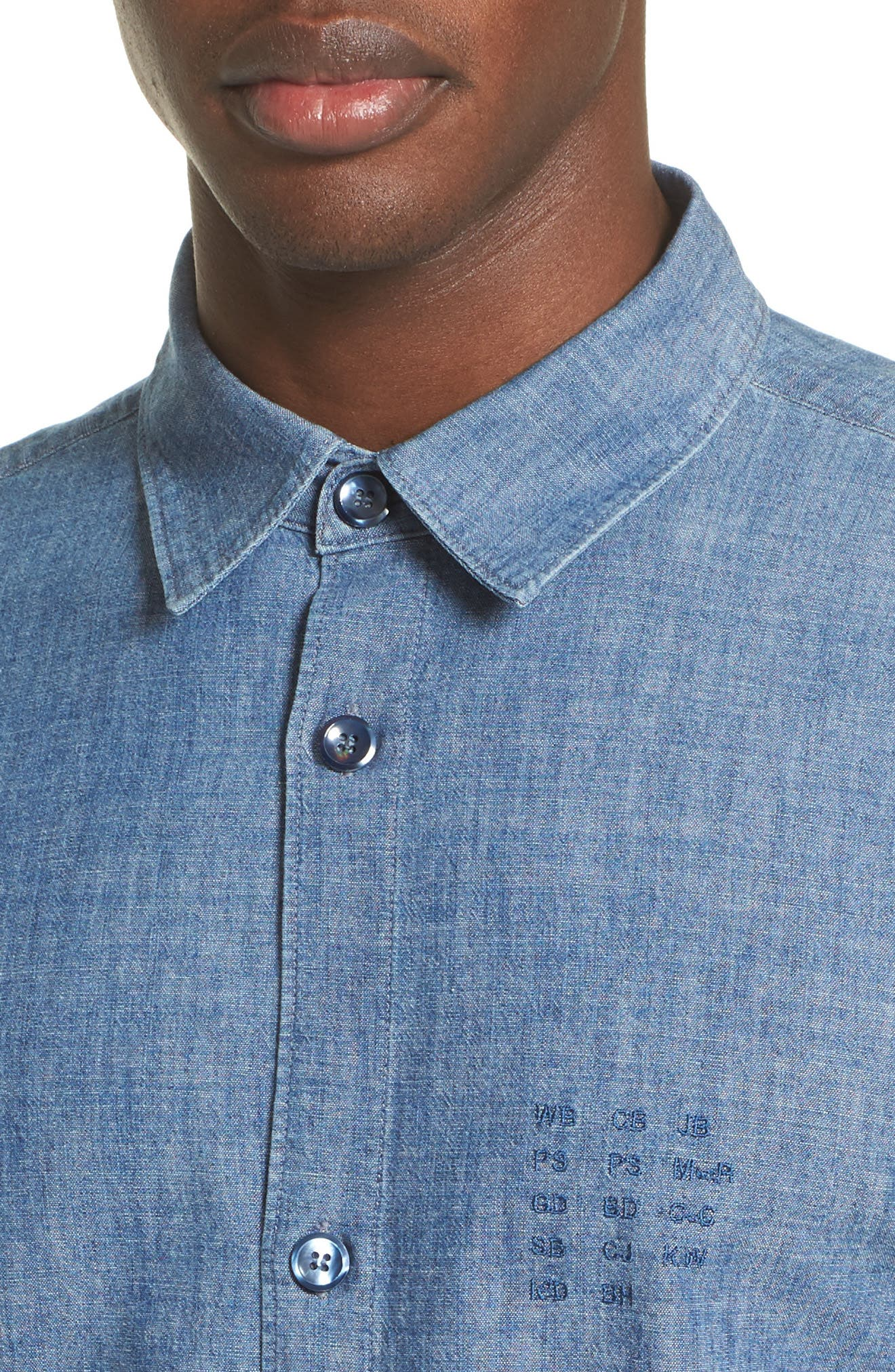 Chambray Chemise Shirt,                             Alternate thumbnail 5, color,                             461