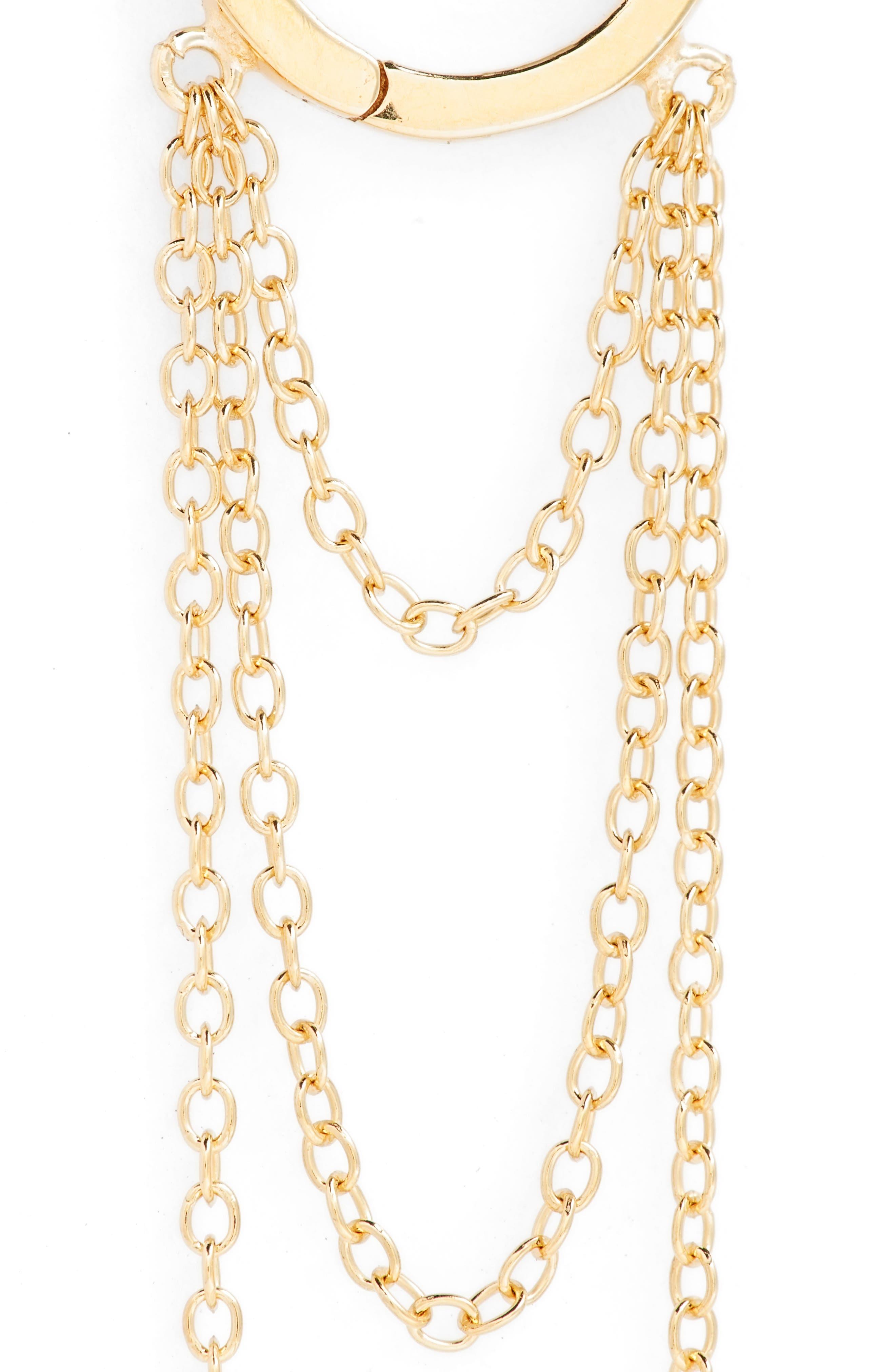 Elmar Huggie Chain earrings,                             Alternate thumbnail 5, color,                             710
