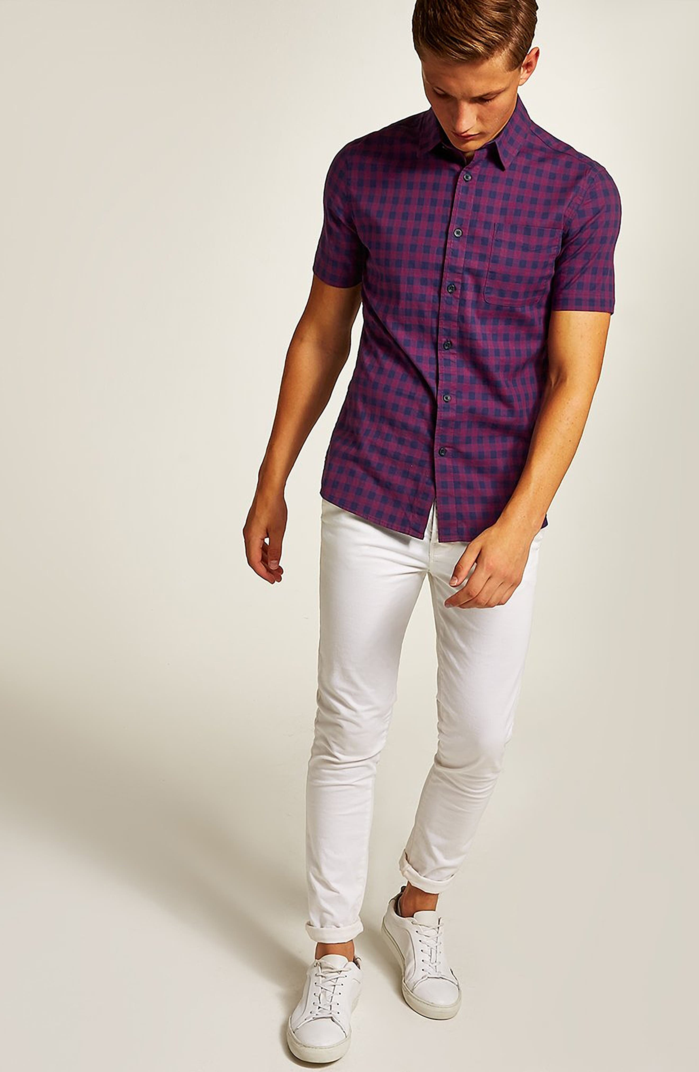 Gingham Shirt,                             Alternate thumbnail 5, color,                             400