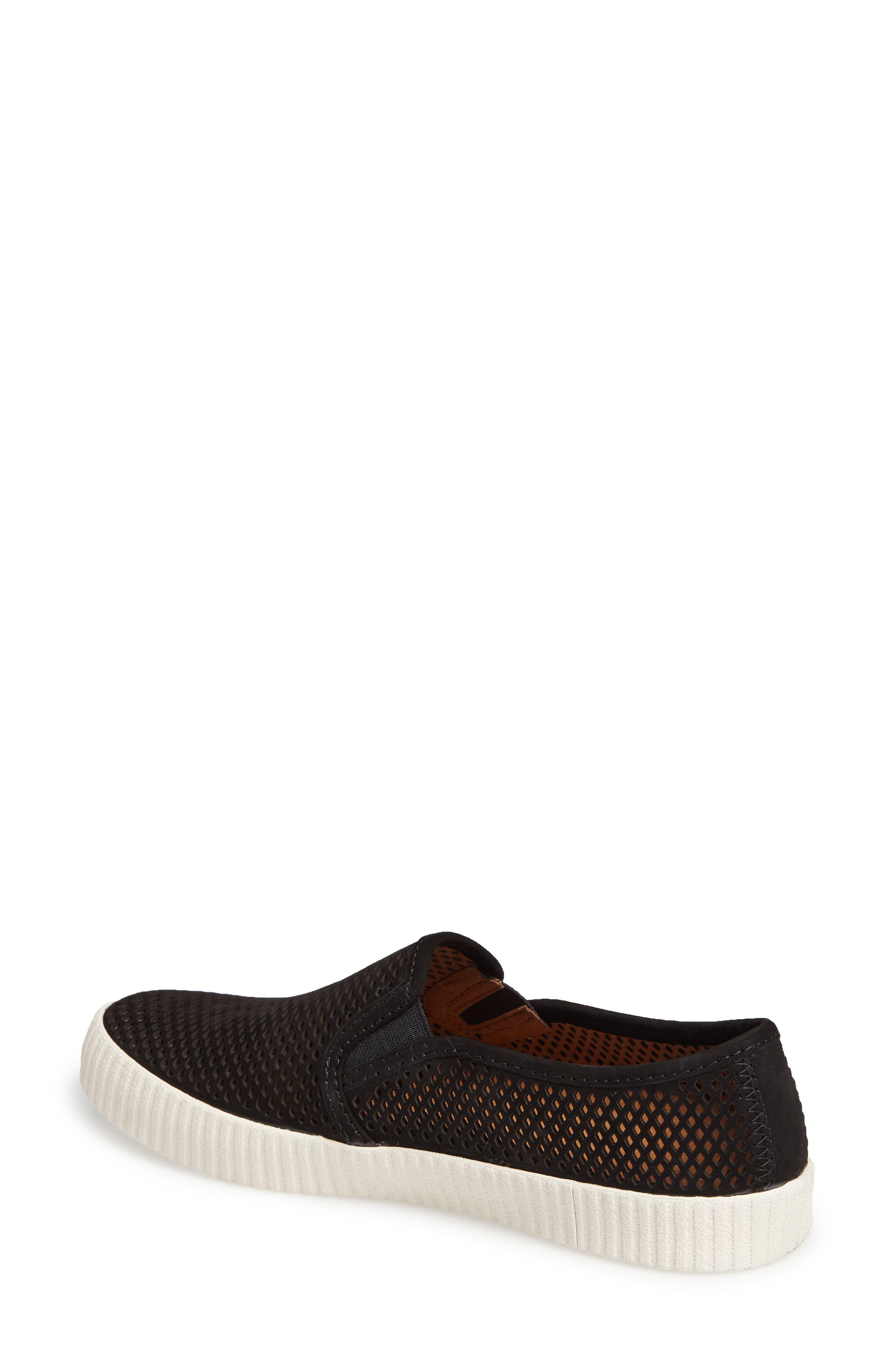Camille Perforated Slip-On Sneaker,                             Alternate thumbnail 2, color,                             001